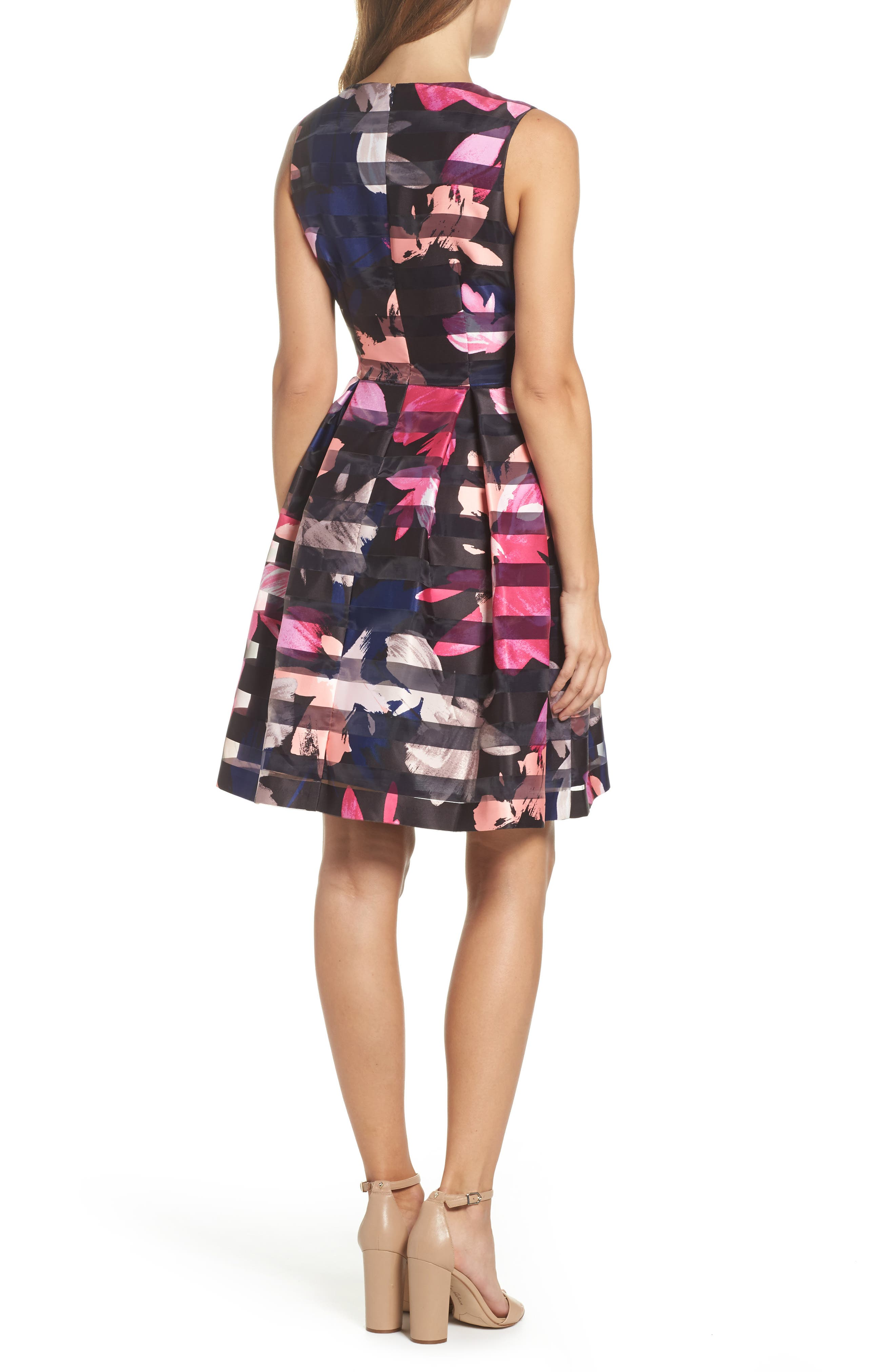 Alternate Image 2  - Vince Camuto Shadow Stripe Fit & Flare Dress