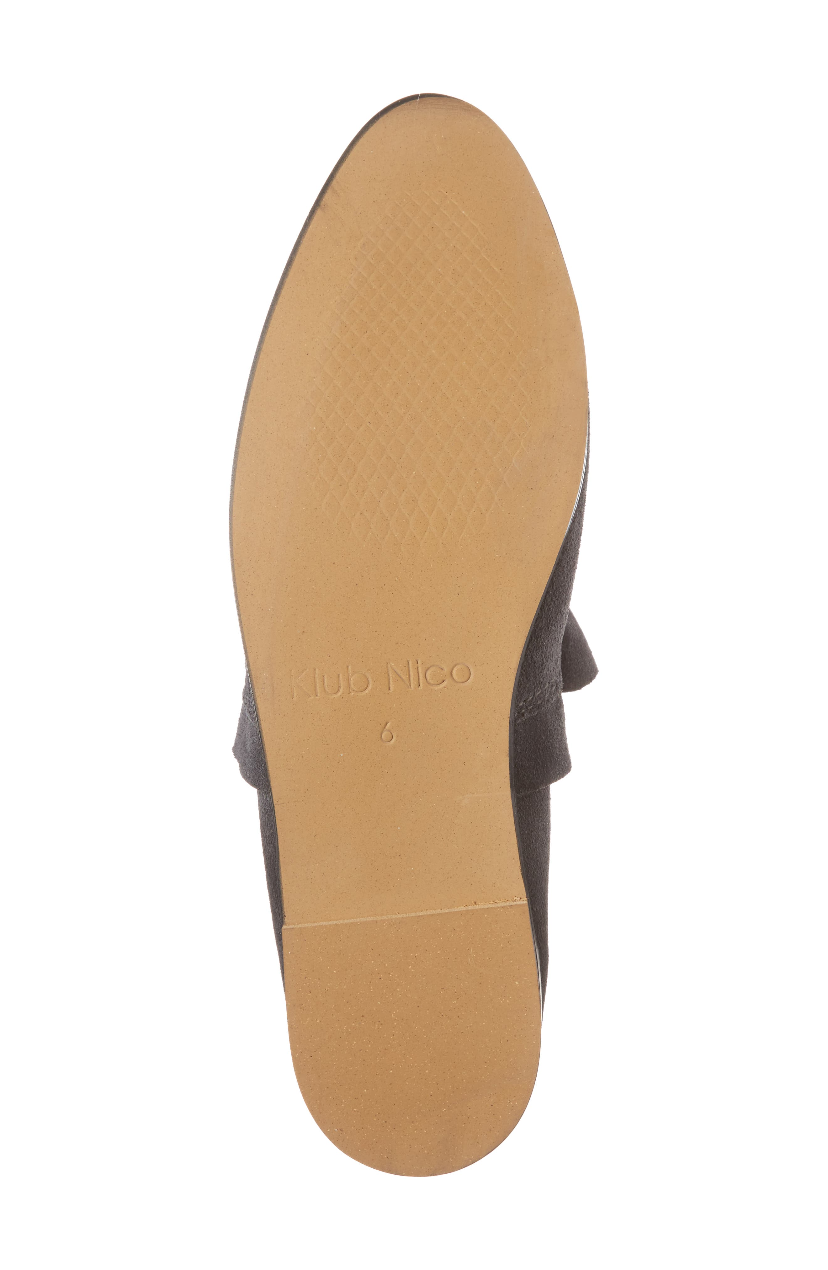 Gabbie Ruffle d'Orsay Flat,                             Alternate thumbnail 6, color,                             Ink Suede