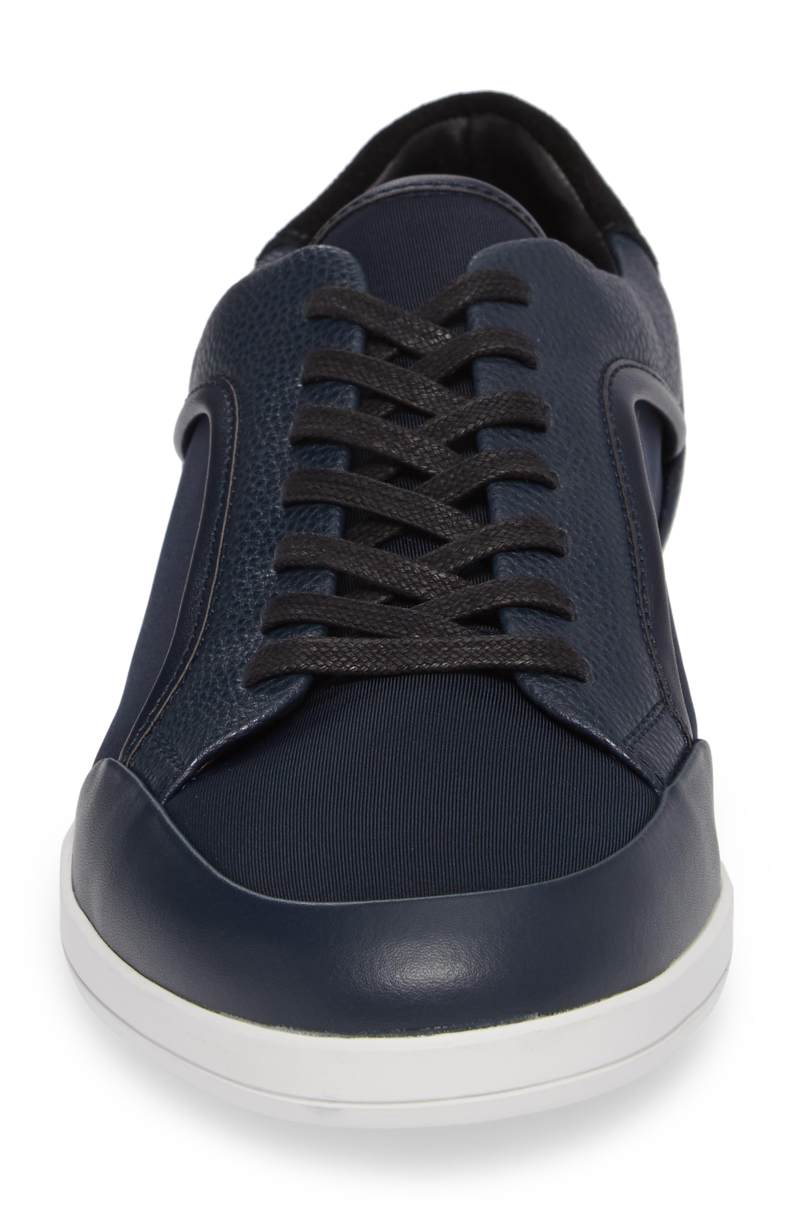 Masen Sneaker,                             Alternate thumbnail 4, color,                             Dark Navy Lyrcra