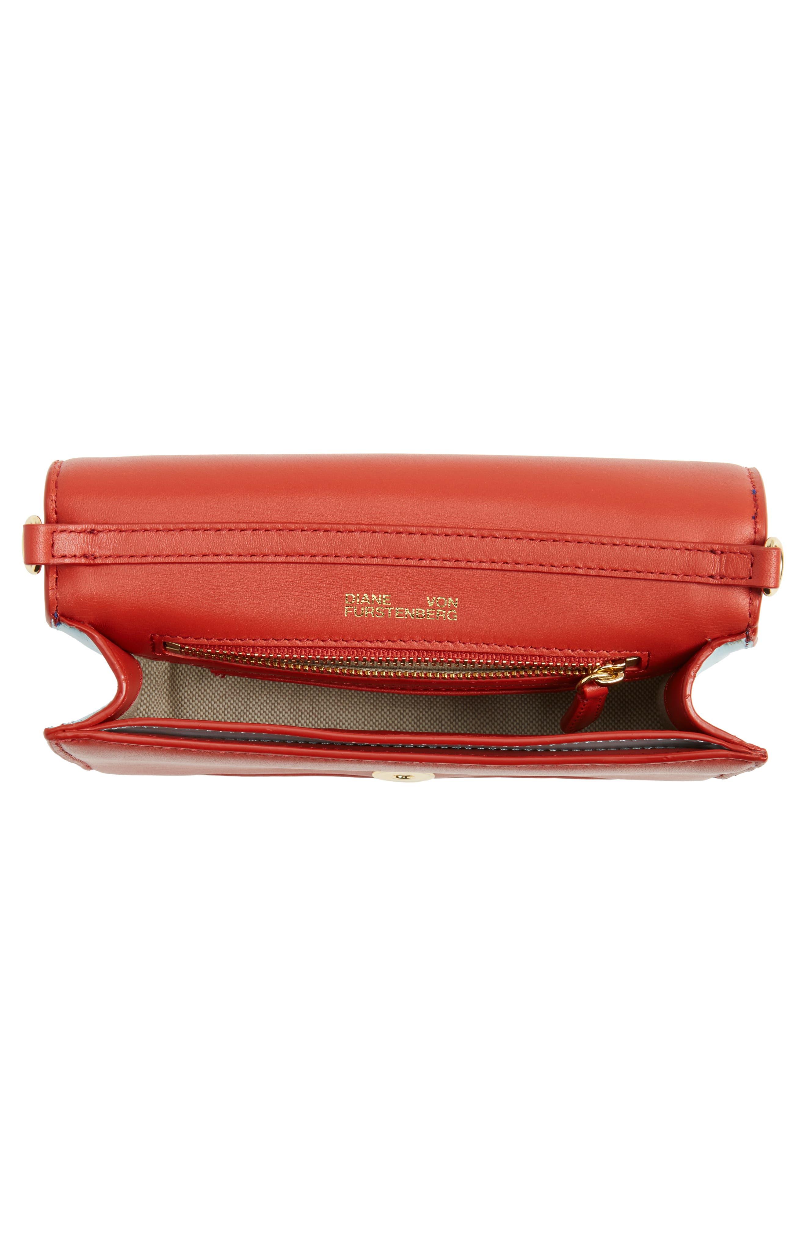 Alternate Image 4  - Diane von Furstenberg Soirée Leather Convertible Crossbody Bag