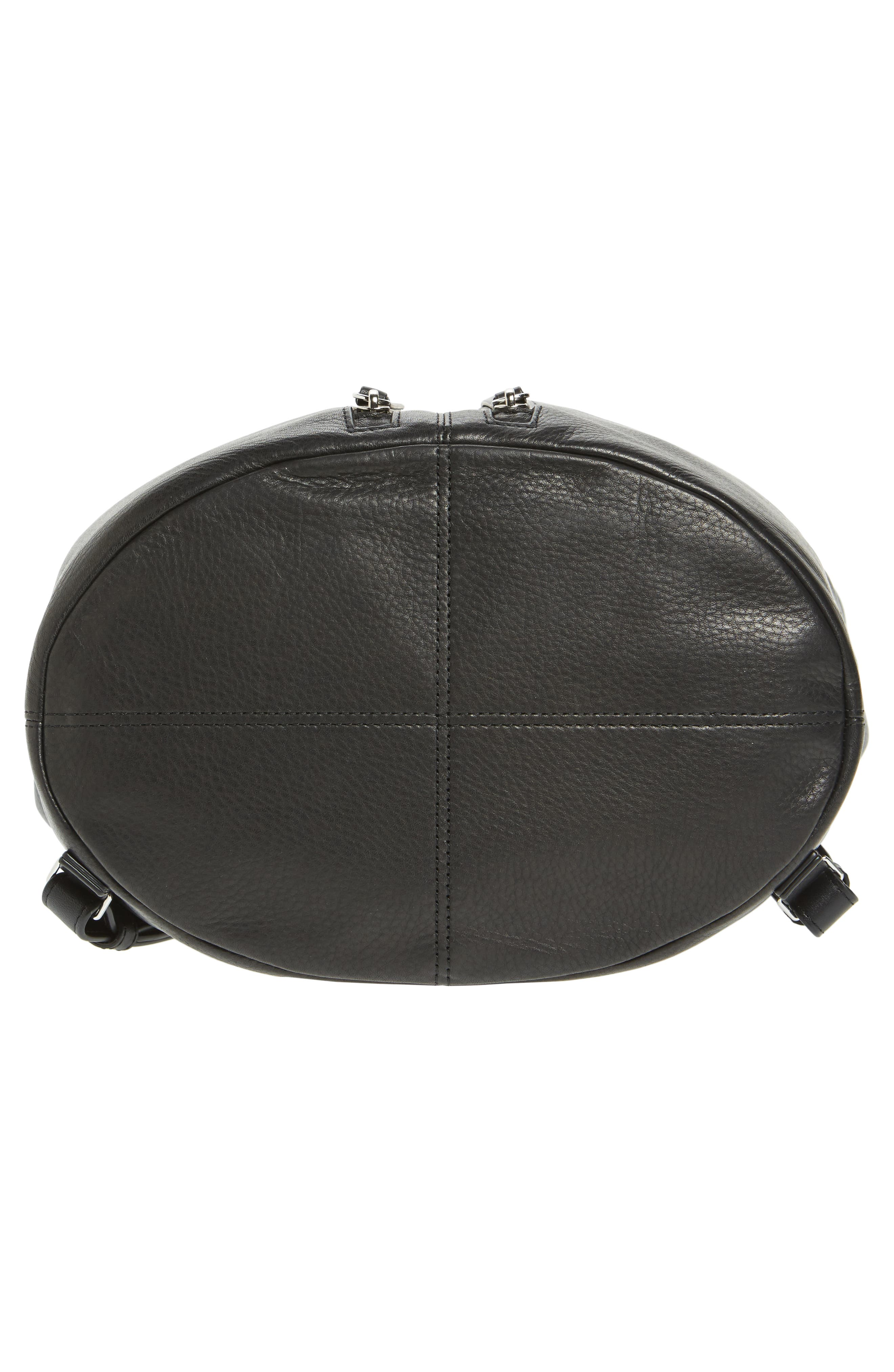 Fetch Leather Backpack,                             Alternate thumbnail 6, color,                             Black