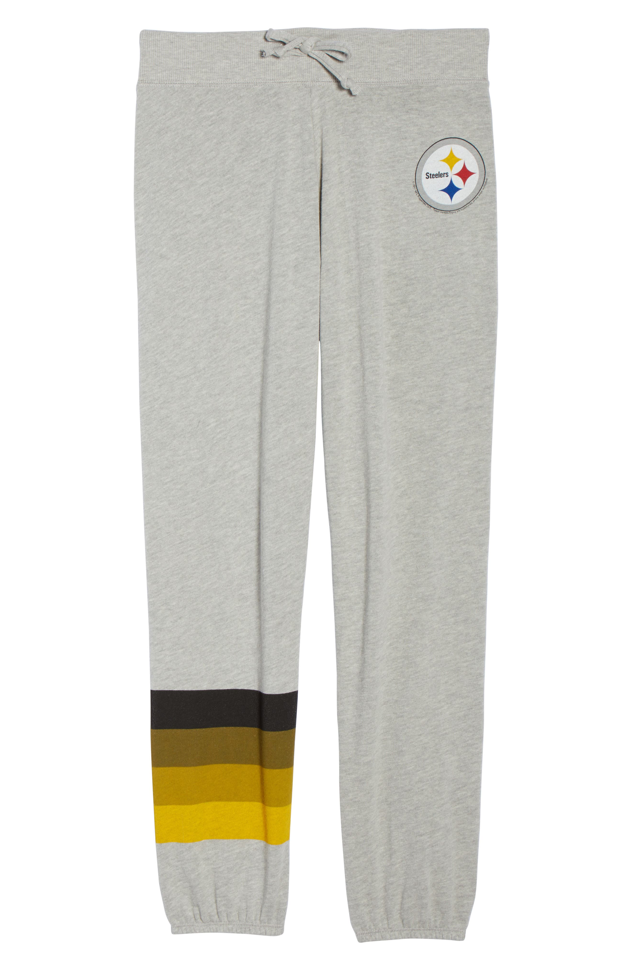 NFL Pittsburgh Steelers Hacci Sweatpants,                             Alternate thumbnail 7, color,                             Dove Heather Grey