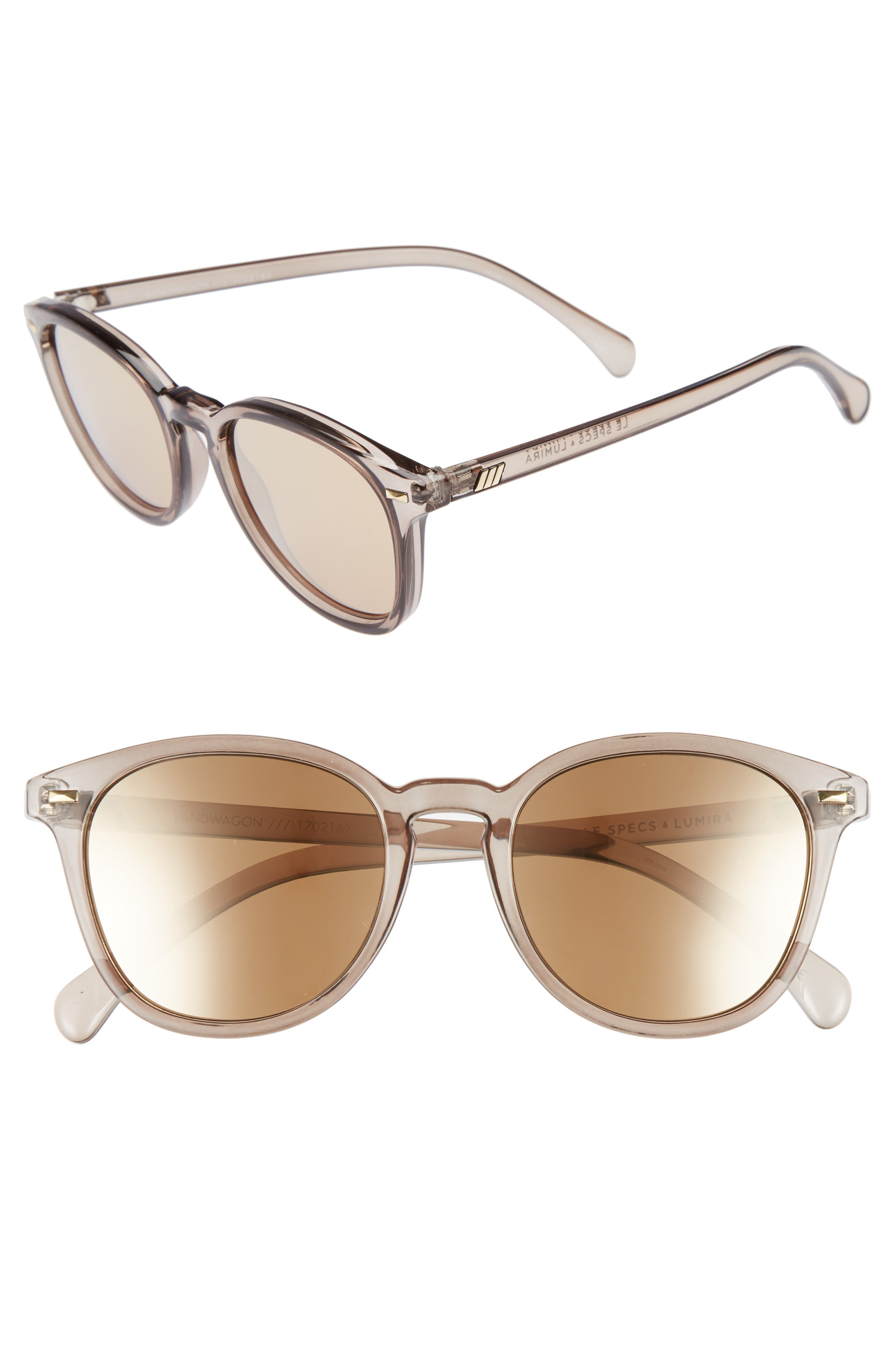 x Lumira Bandwagon 51mm Sunglasses & Candle Gift Set,                             Main thumbnail 1, color,                             Mist Copper