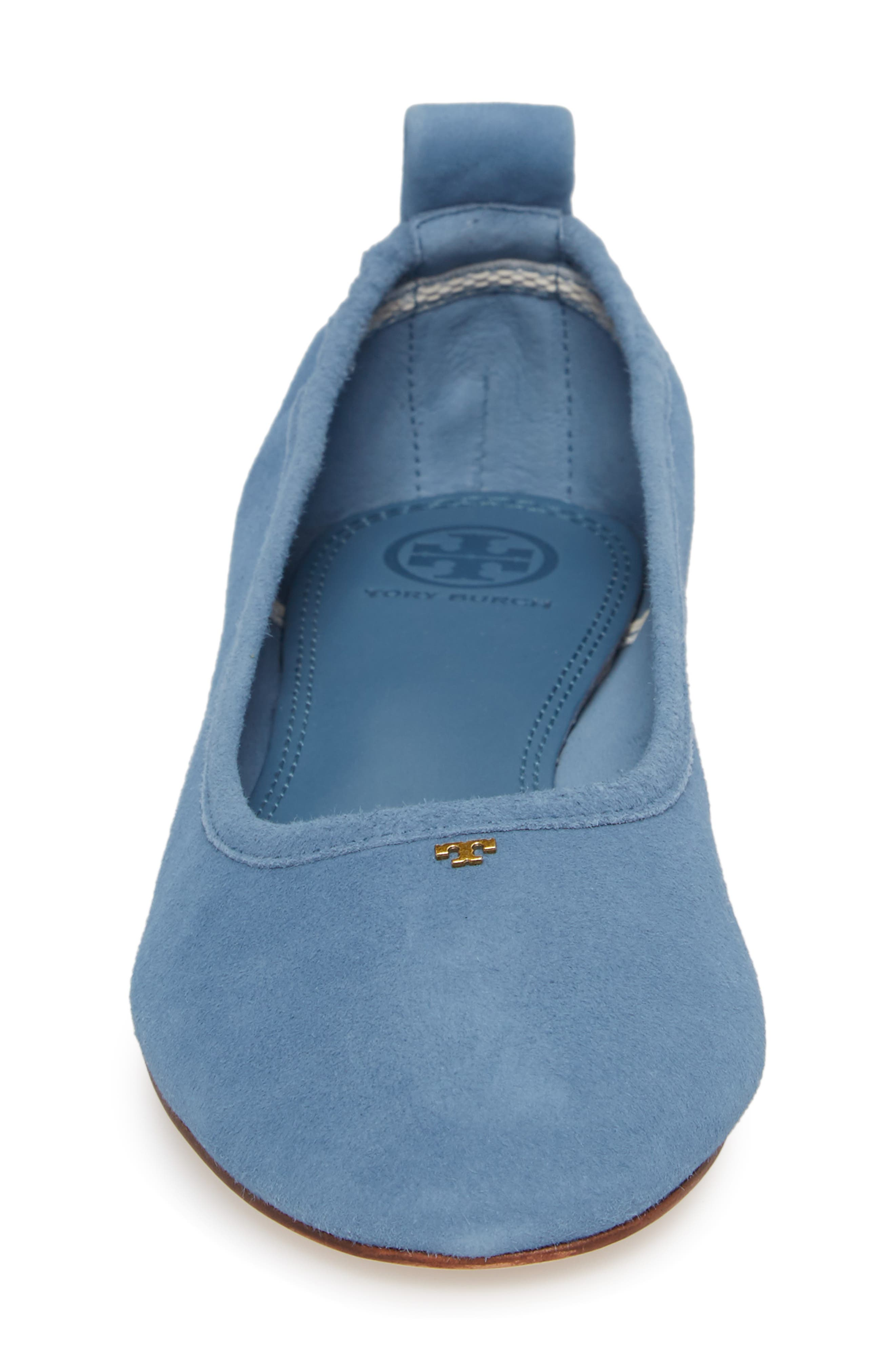 Therese Ballet Flat,                             Alternate thumbnail 4, color,                             Blue Yonder