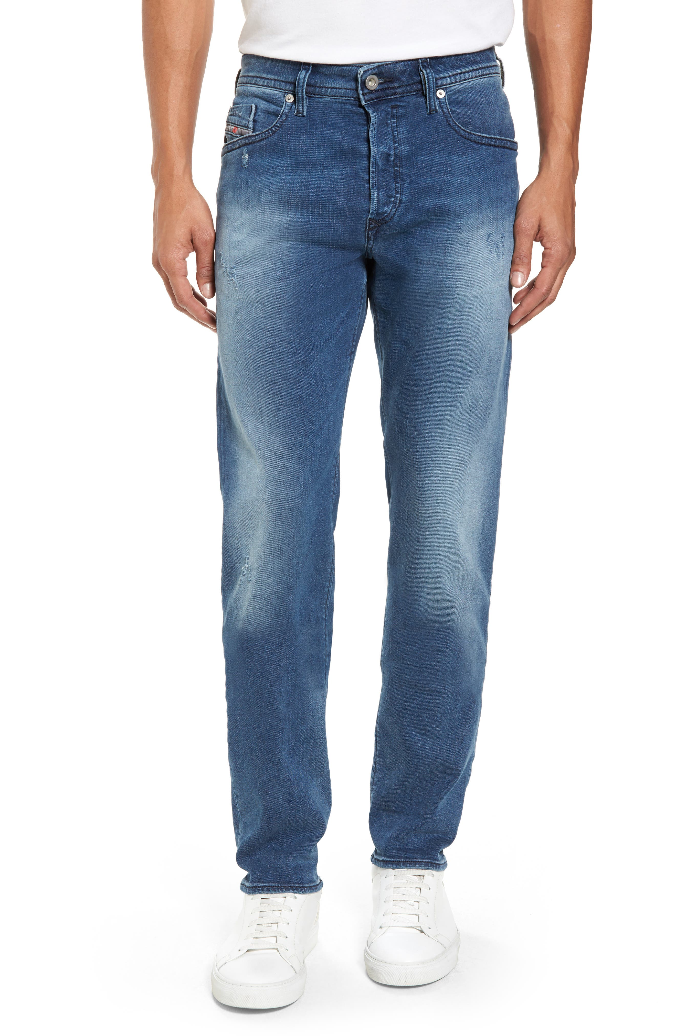Buster Slim Straight Fit Jeans,                         Main,                         color, Denim