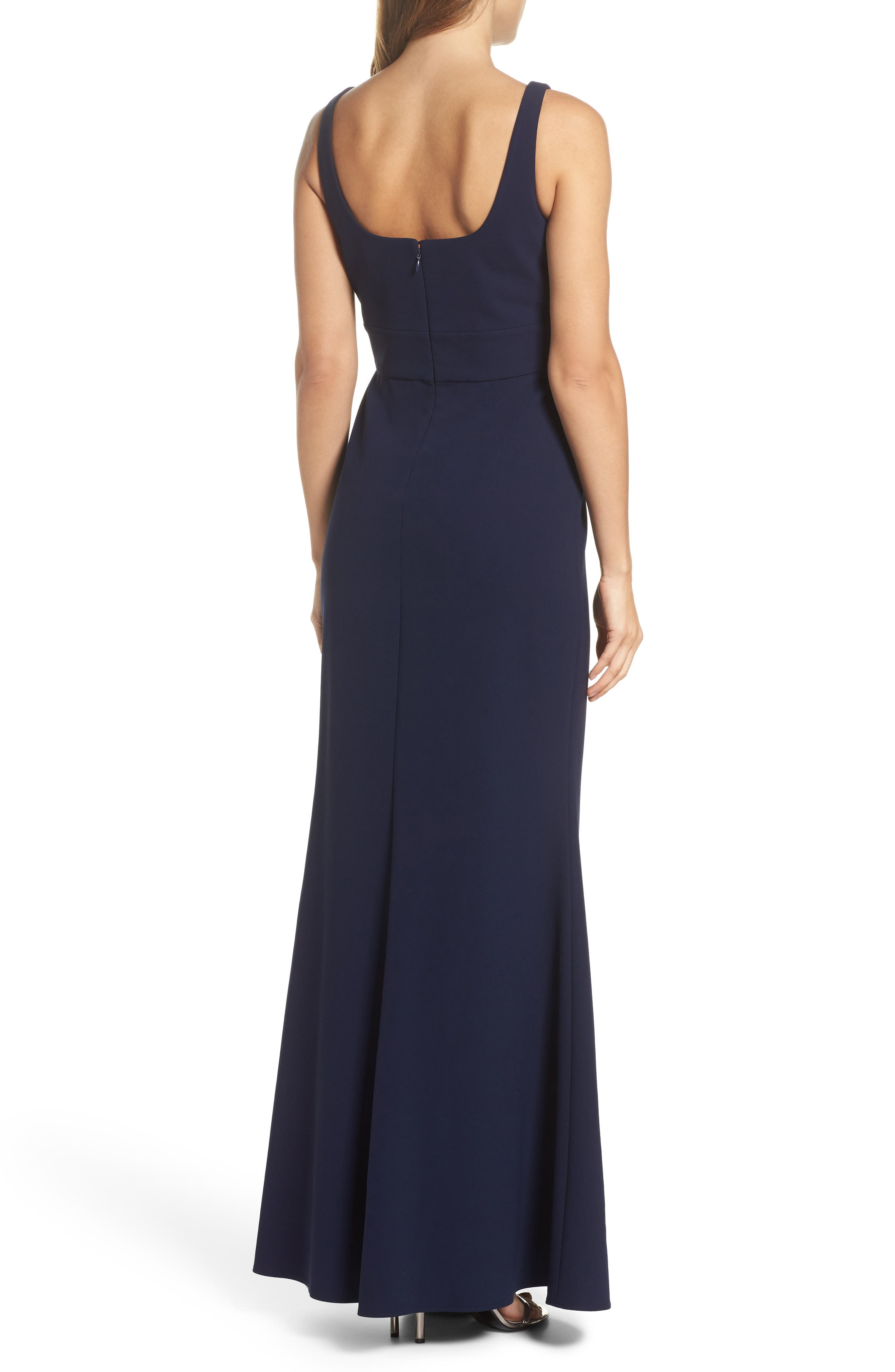Gown,                             Alternate thumbnail 2, color,                             Midnight Blue