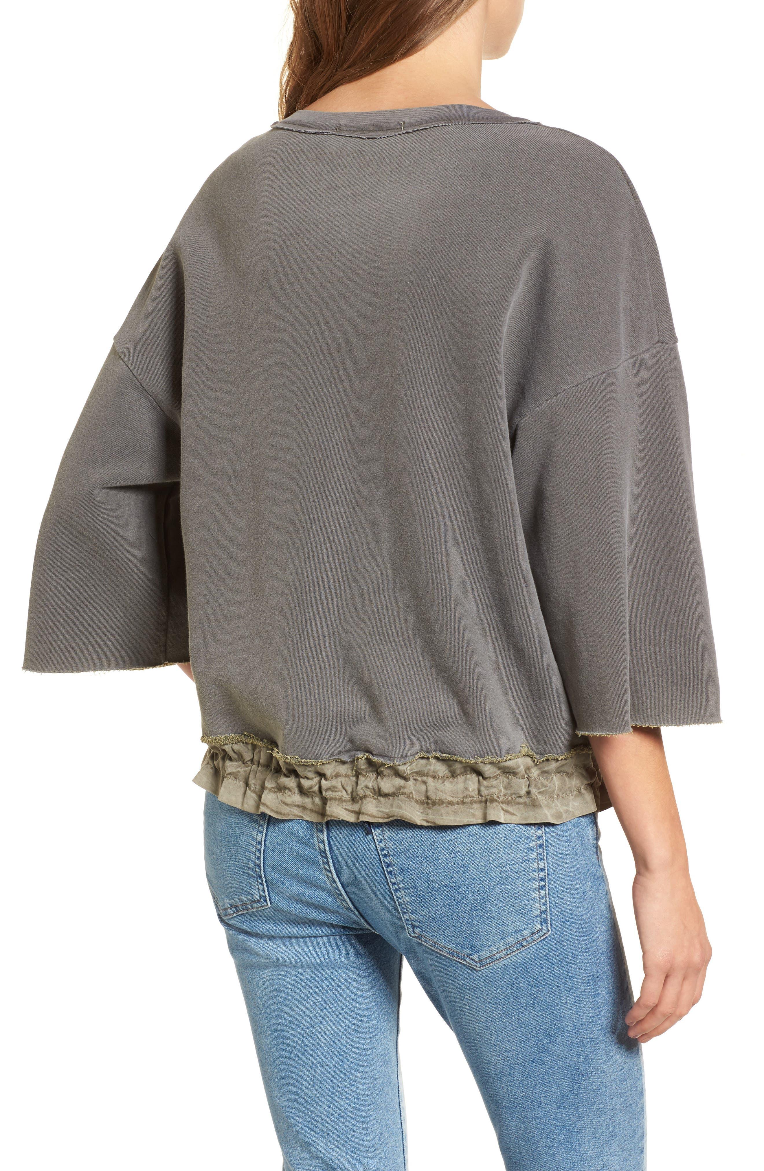Alternate Image 2  - Stateside Crop Terry Sweatshirt