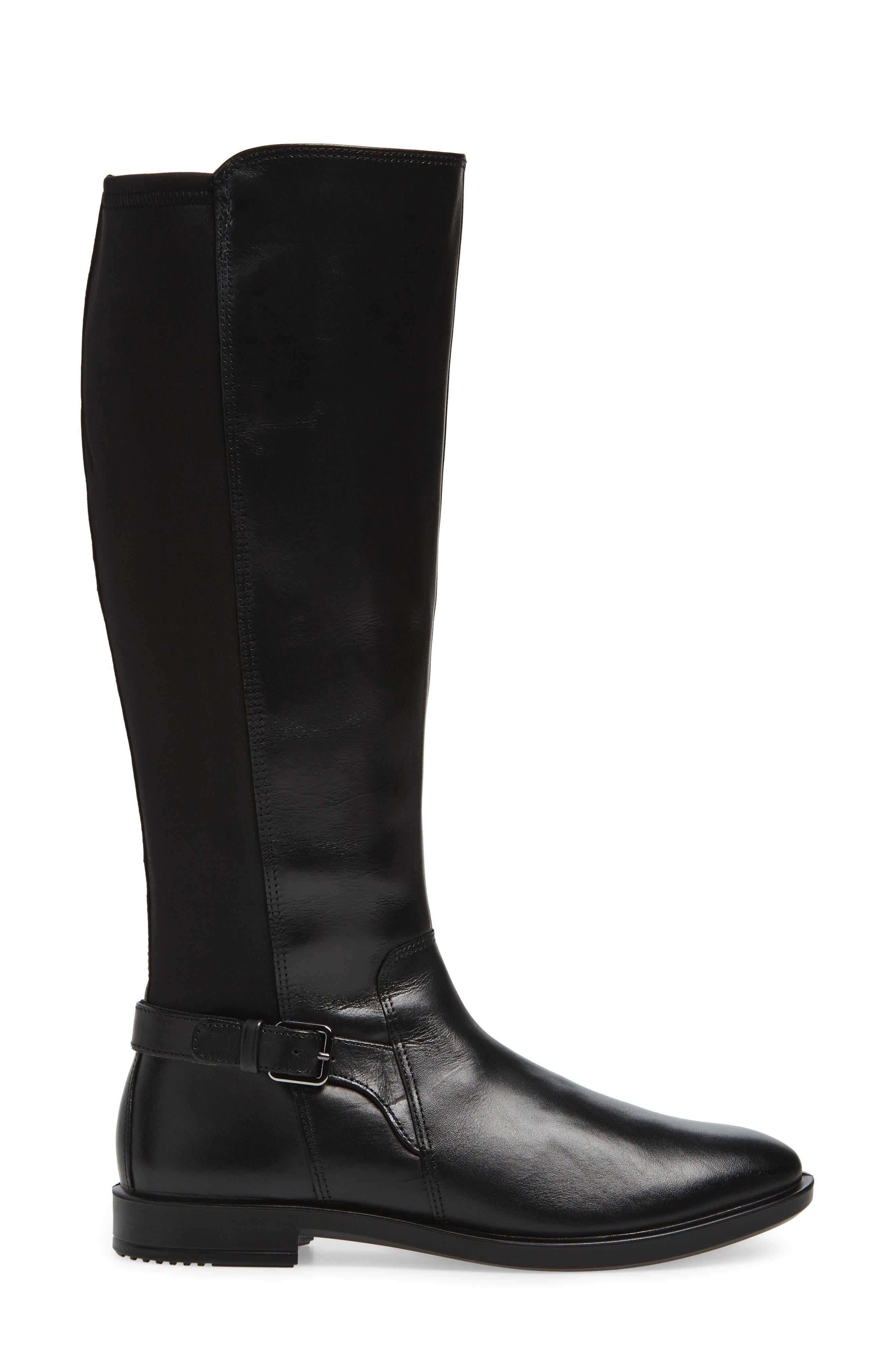Shape 15 Stretch Shaft Riding Boot,                             Alternate thumbnail 3, color,                             Black Leather