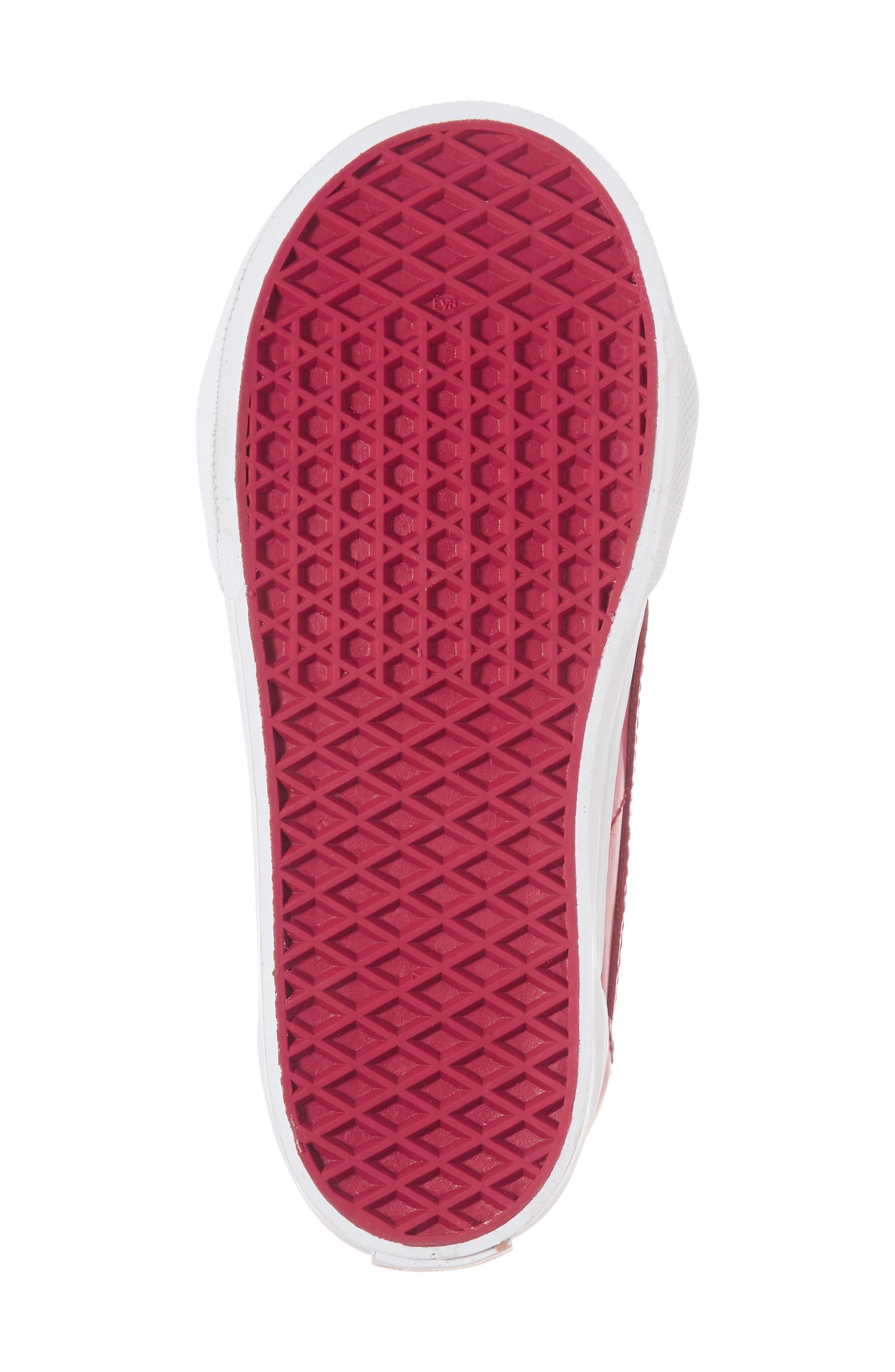 SK8-Hi Zip Sneaker,                             Alternate thumbnail 6, color,                             Persian Red/ Gold
