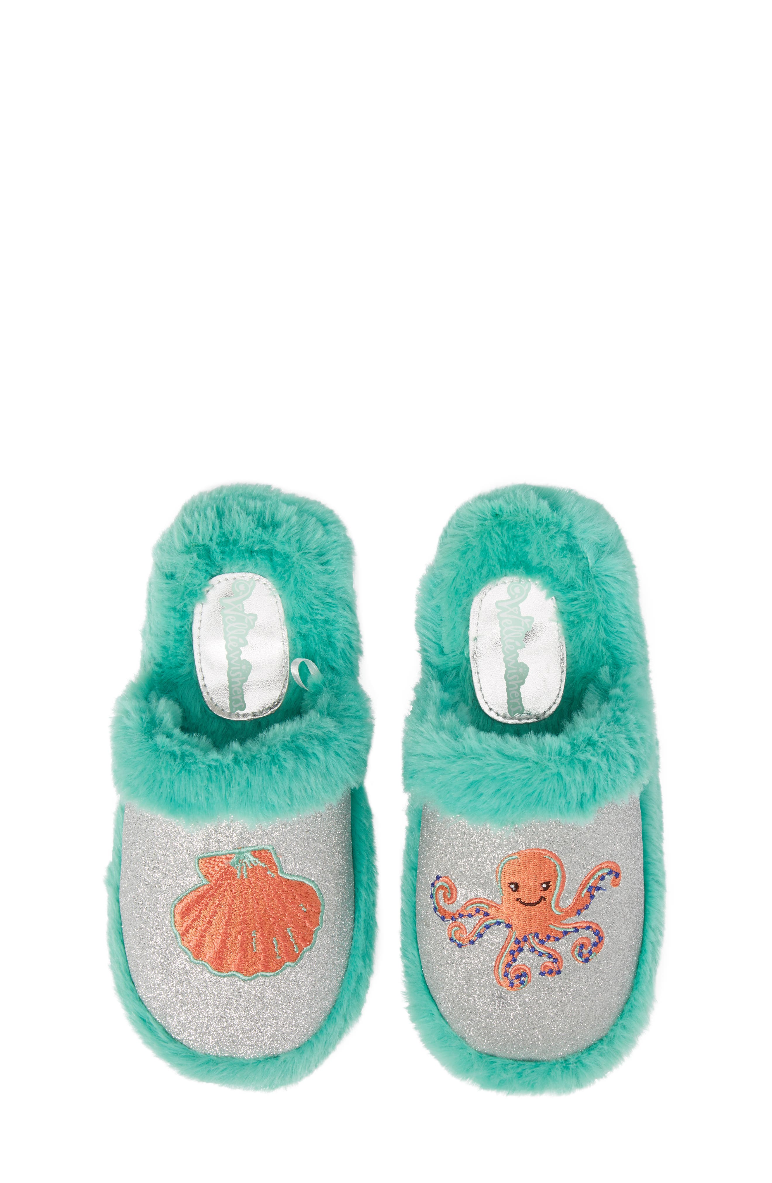 Alternate Image 5  - WellieWishers from American Girl Camille Faux Fur Glitter Slipper (Toddler, Little Kid & Big Kid)