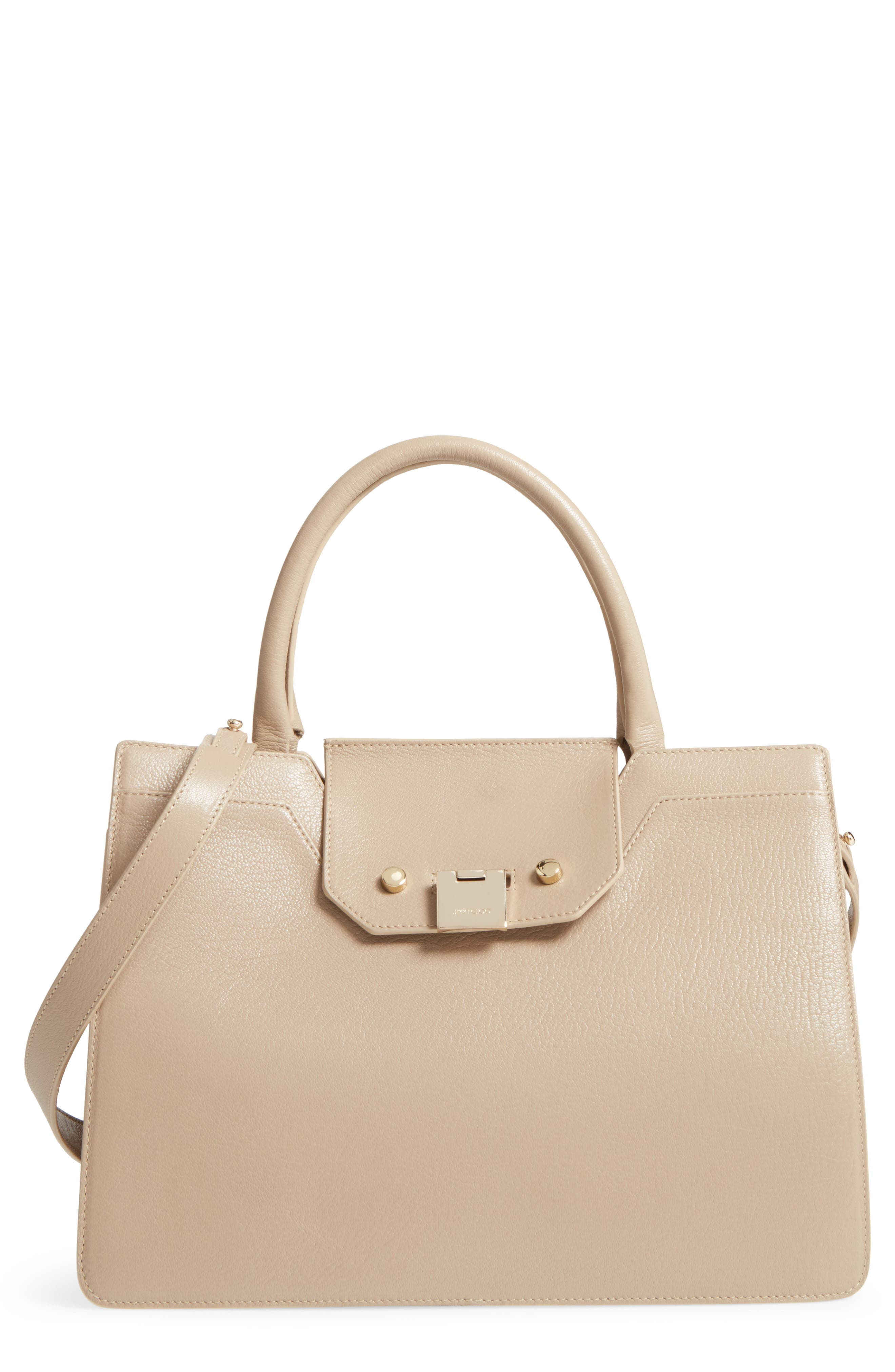 Rebel Leather Tote,                             Main thumbnail 1, color,                             Chai