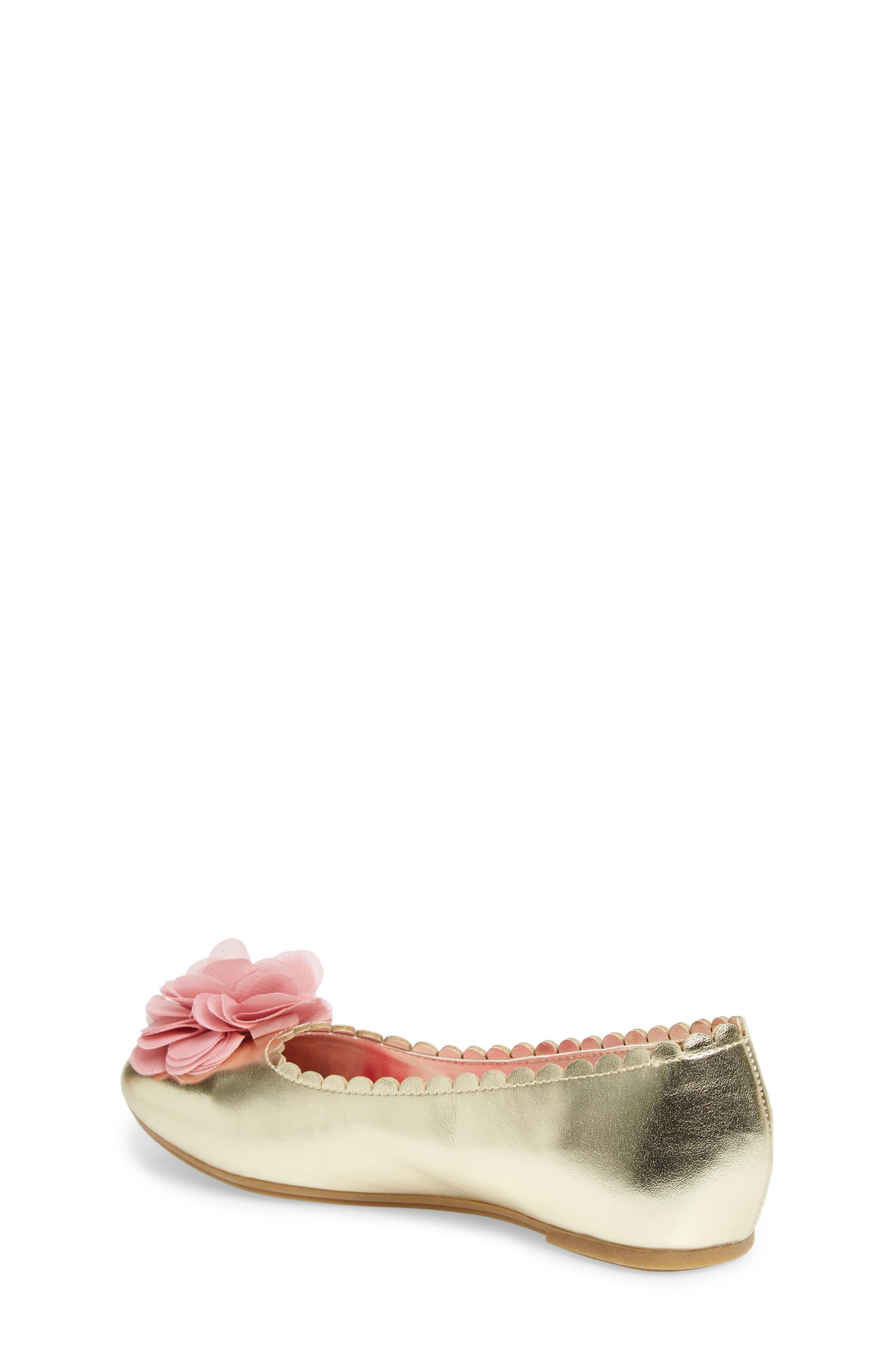 Alternate Image 2  - WellieWishers from American Girl Ashlyn Flower Ballet Flat (Toddler, Little Kid & Big Kid)