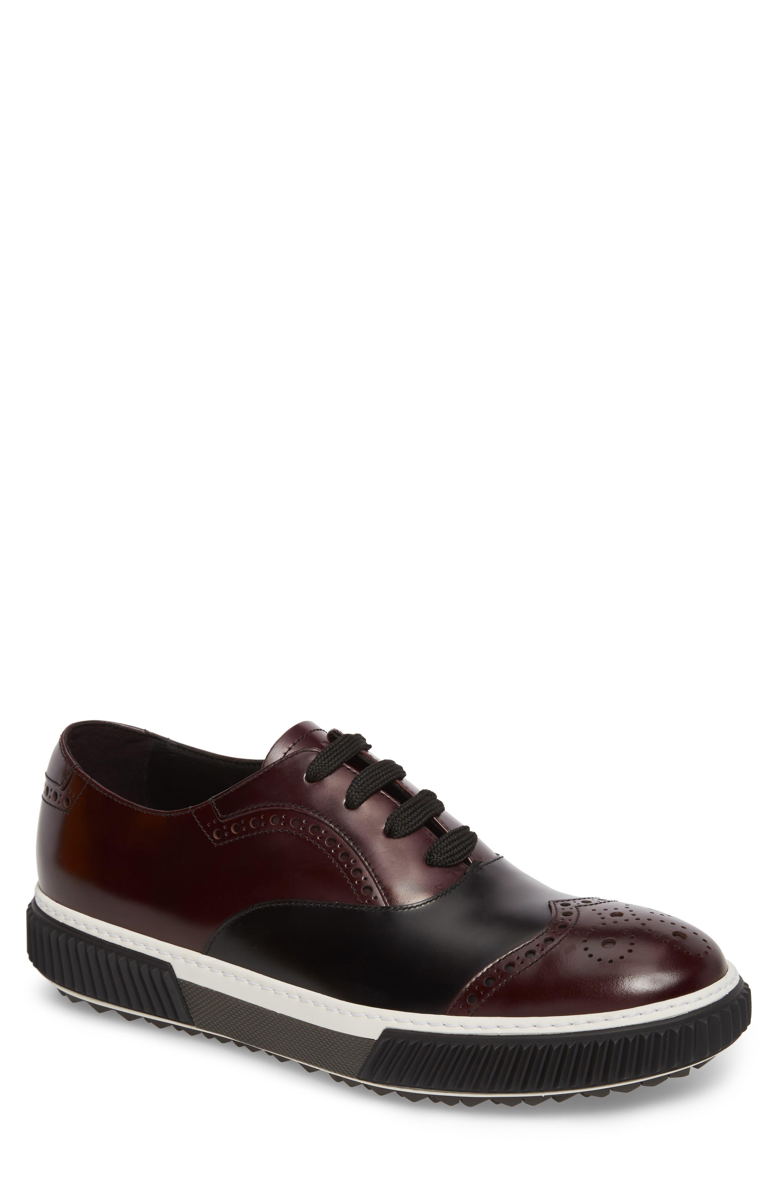 Linea Rossa Wingtip Sneaker,                         Main,                         color, Cordovan Nero