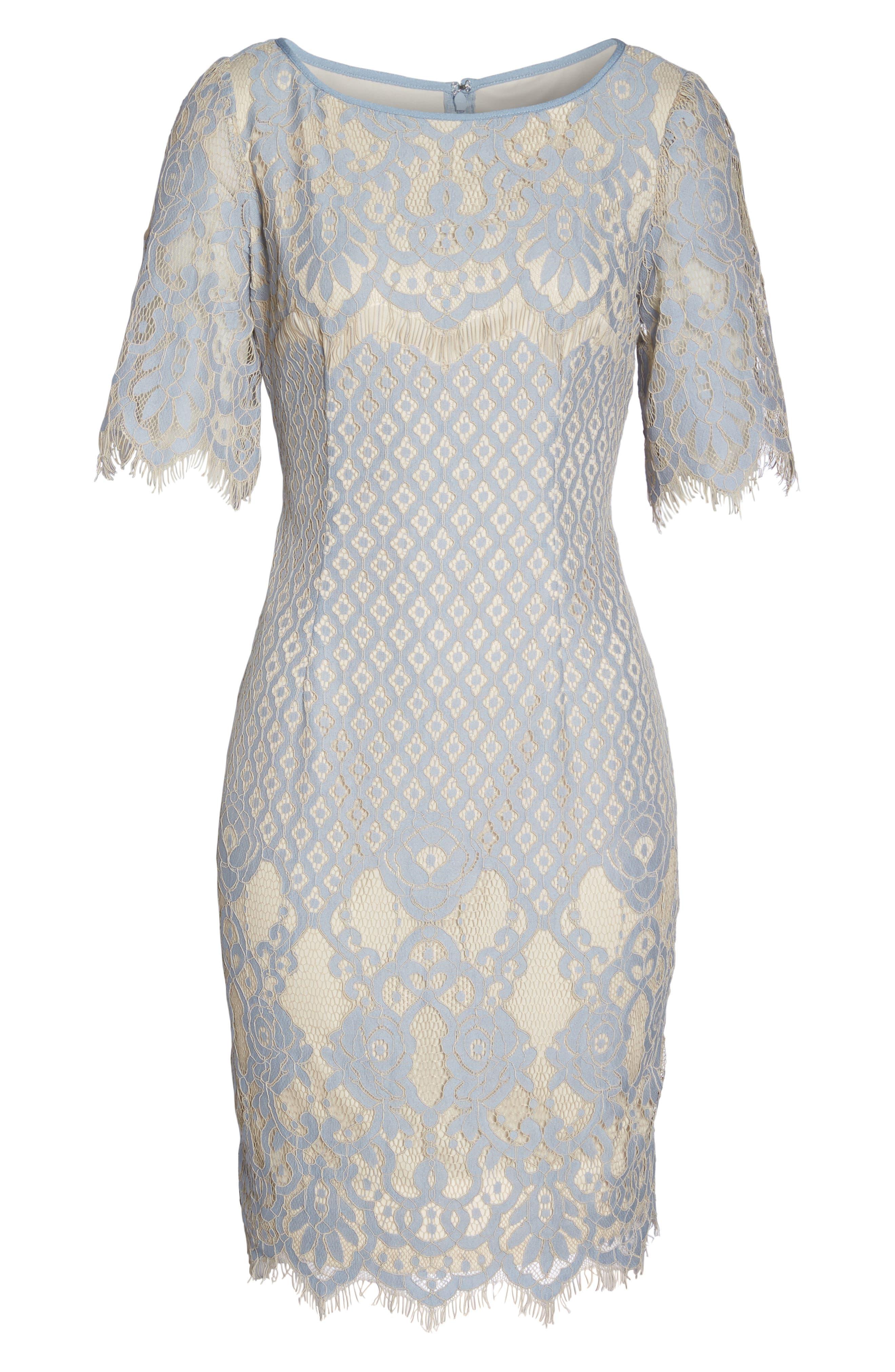 Alternate Image 6  - Adrianna Papell Georgia Lace Sheath Dress (Regular & Petite)