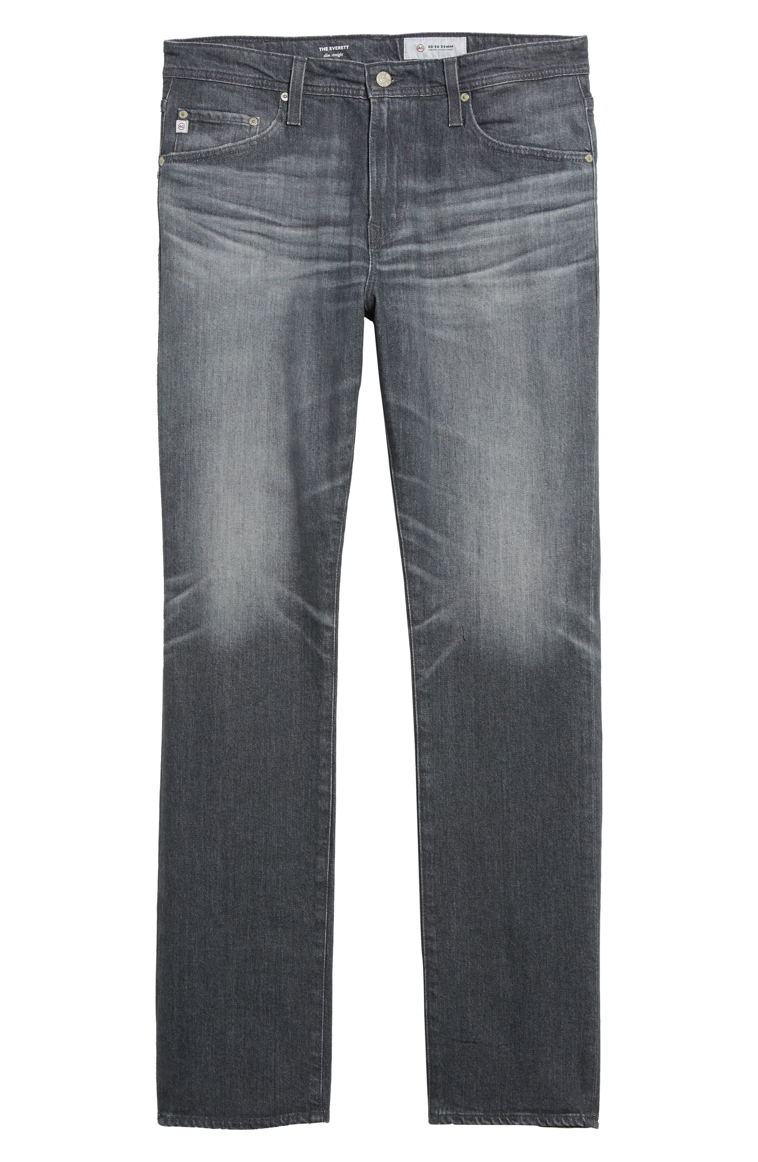 Everett Slim Straight Leg Jeans,                             Alternate thumbnail 6, color,                             5 Year Idle