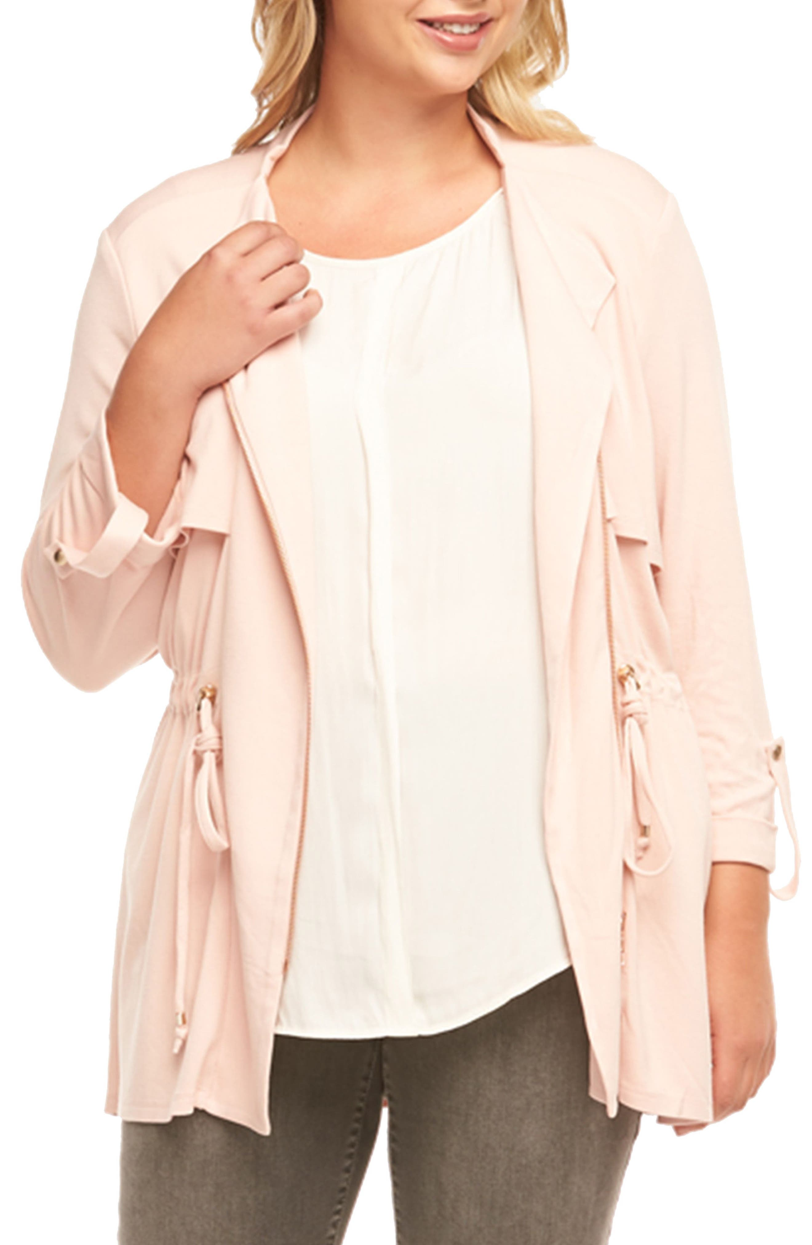 Clare Jacket,                         Main,                         color, Peach Whip