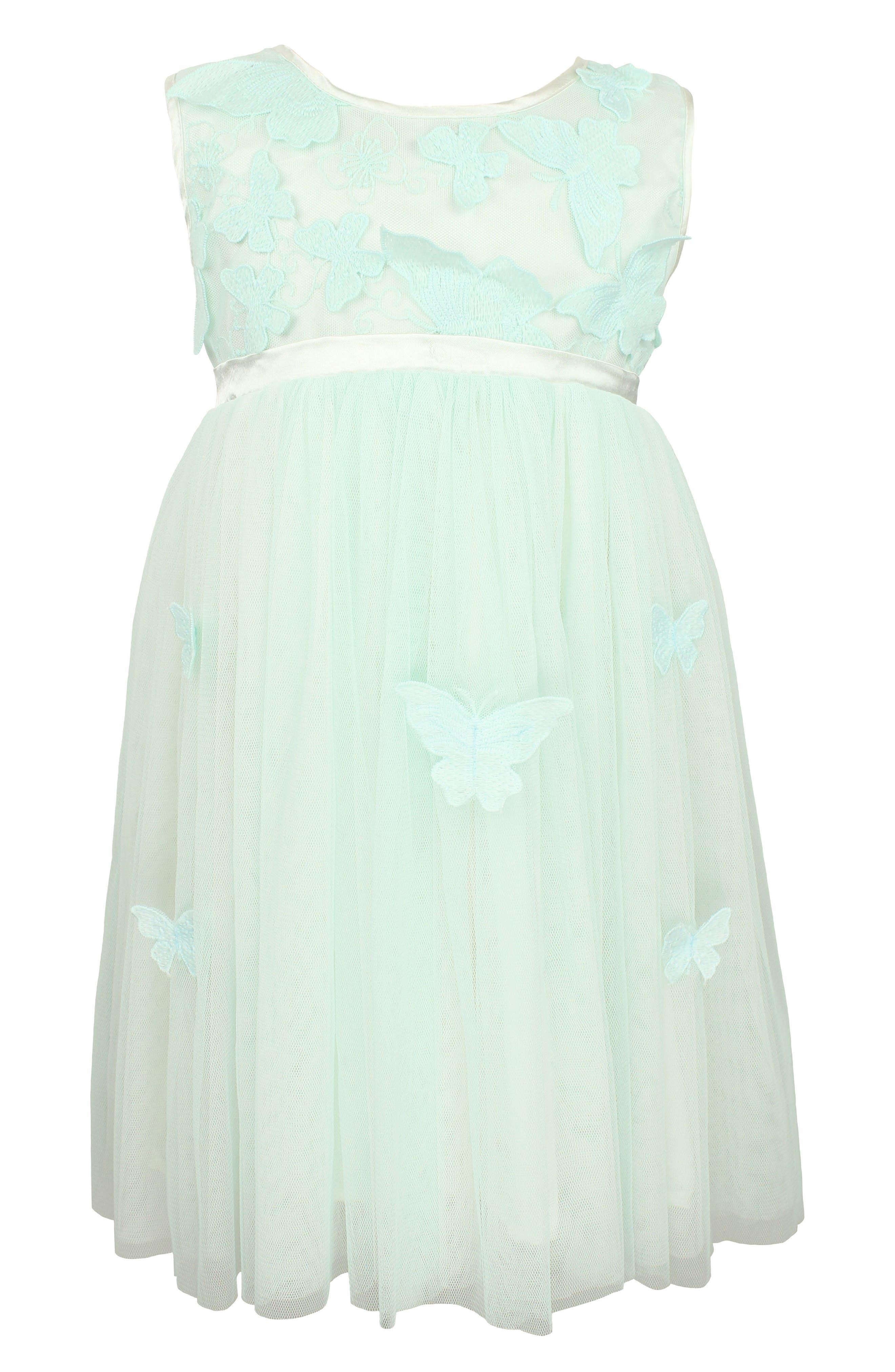 Sleeveless Tulle Dress,                             Main thumbnail 1, color,                             Mint
