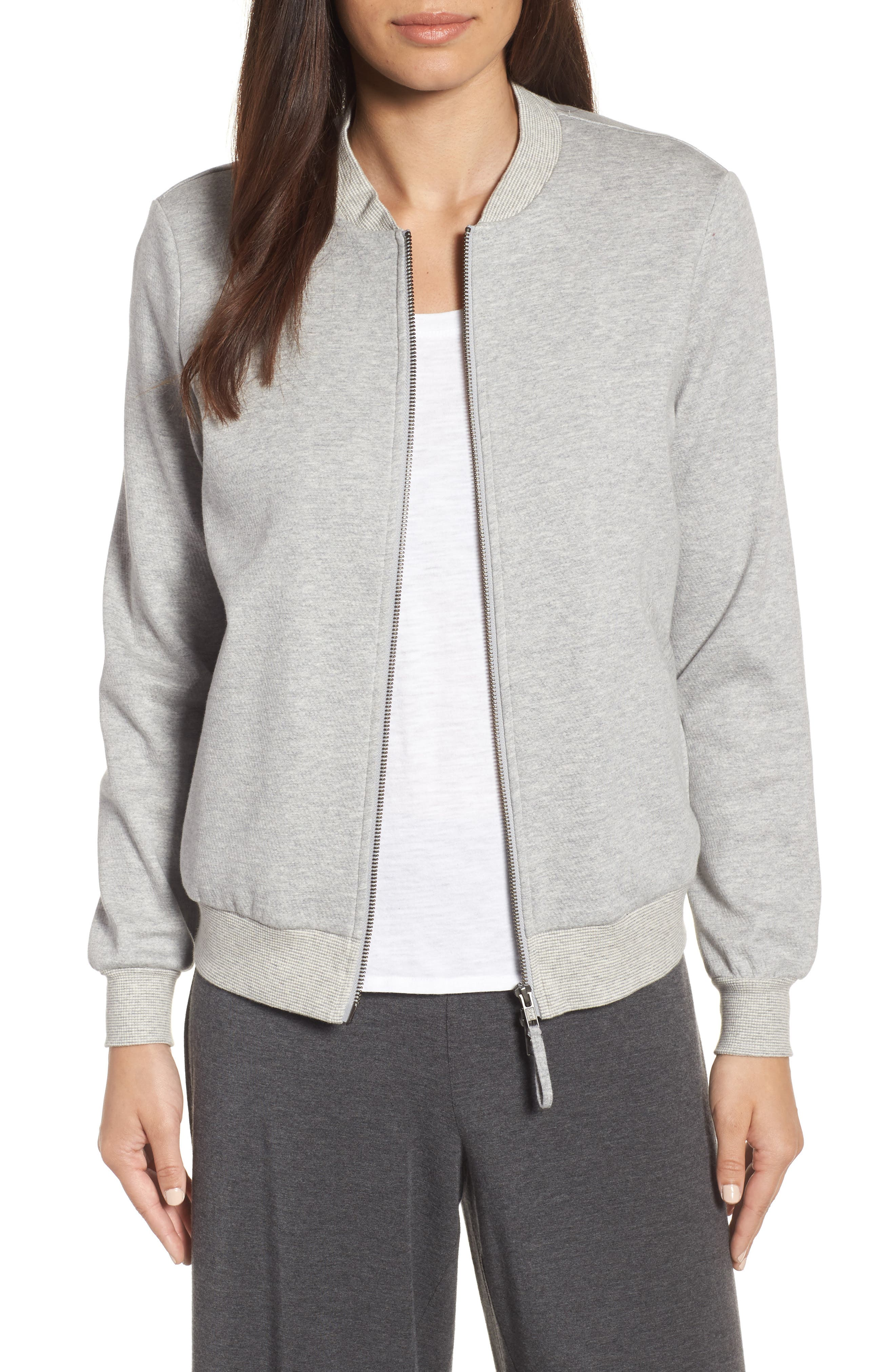Eileen Fisher Knit Bomber Jacket (Regular & Petite)