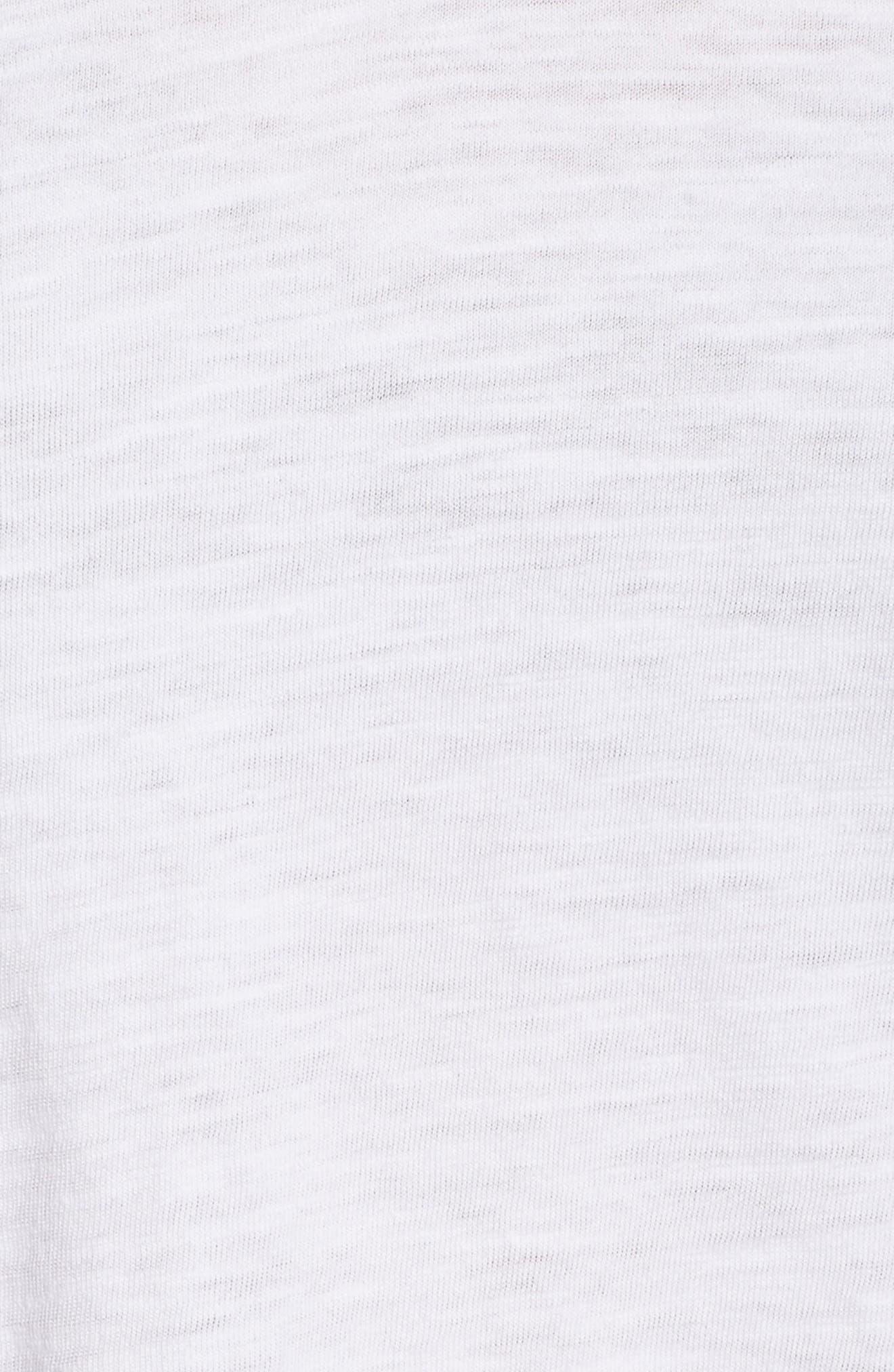 Organic Cotton V-Neck Tee,                             Alternate thumbnail 5, color,                             White