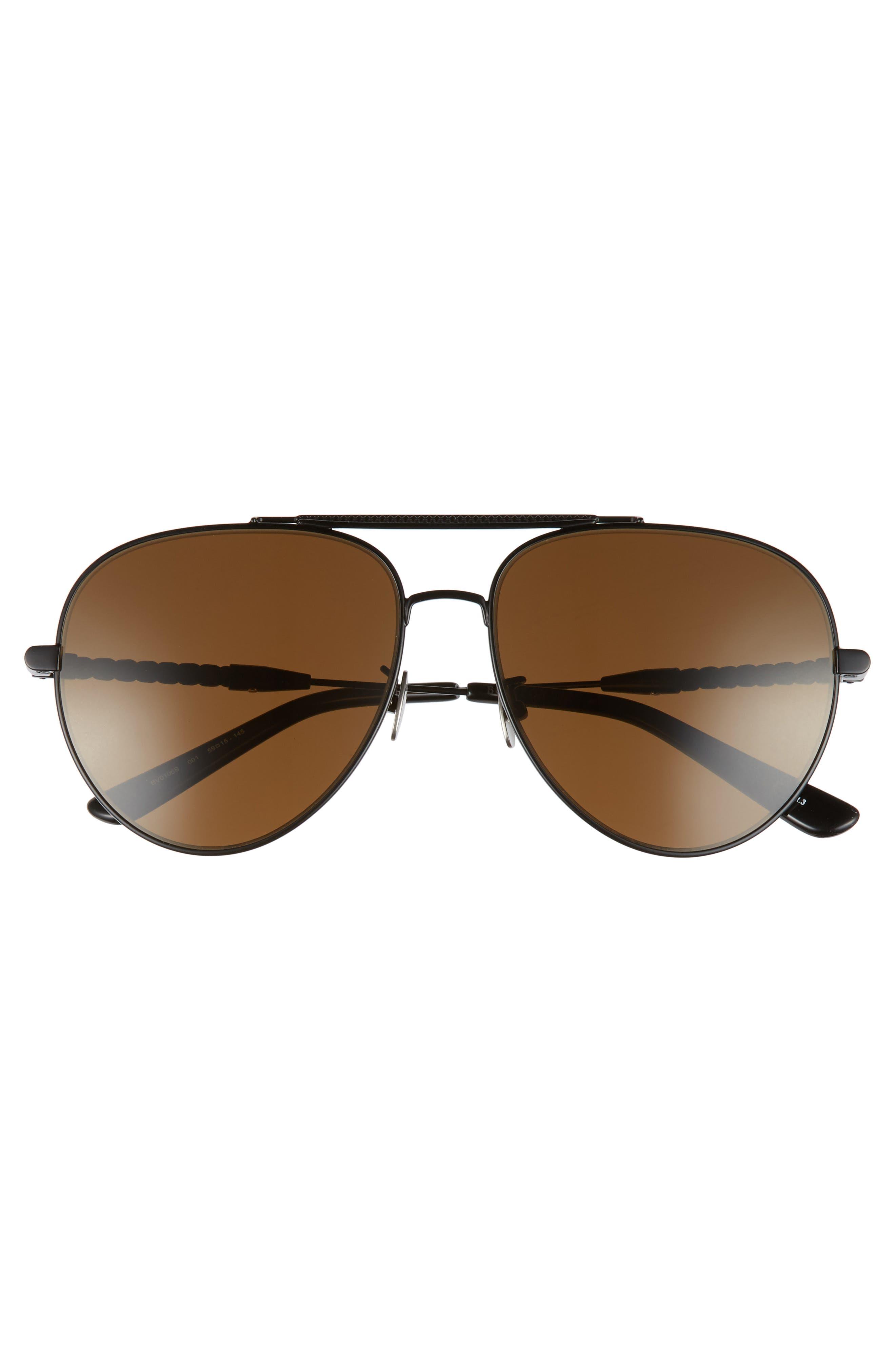 Alternate Image 3  - Bottega Veneta 59mm Aviator Sunglasses