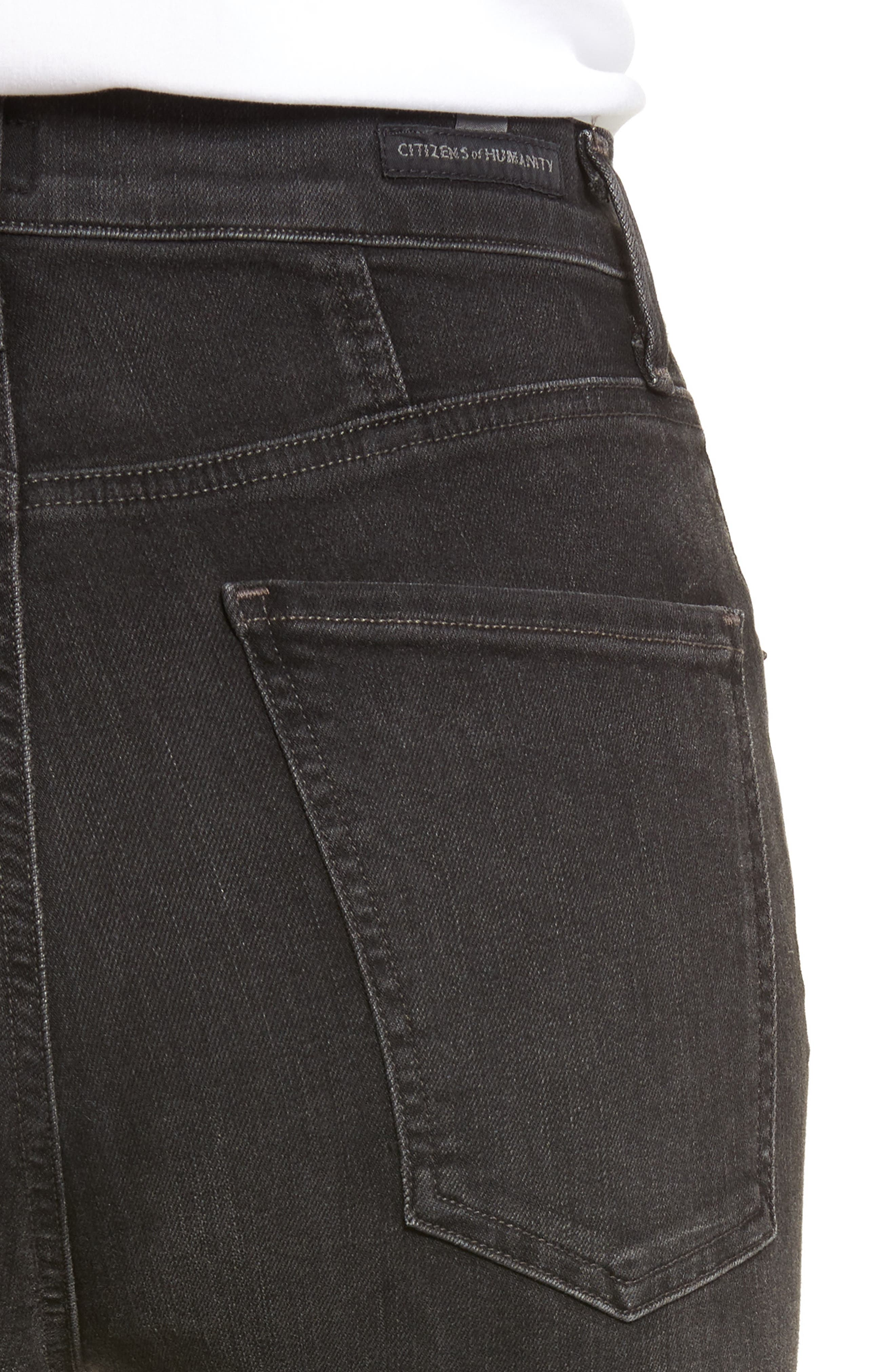 Chrissy High Waist Skinny Jeans,                             Alternate thumbnail 4, color,                             Darkness