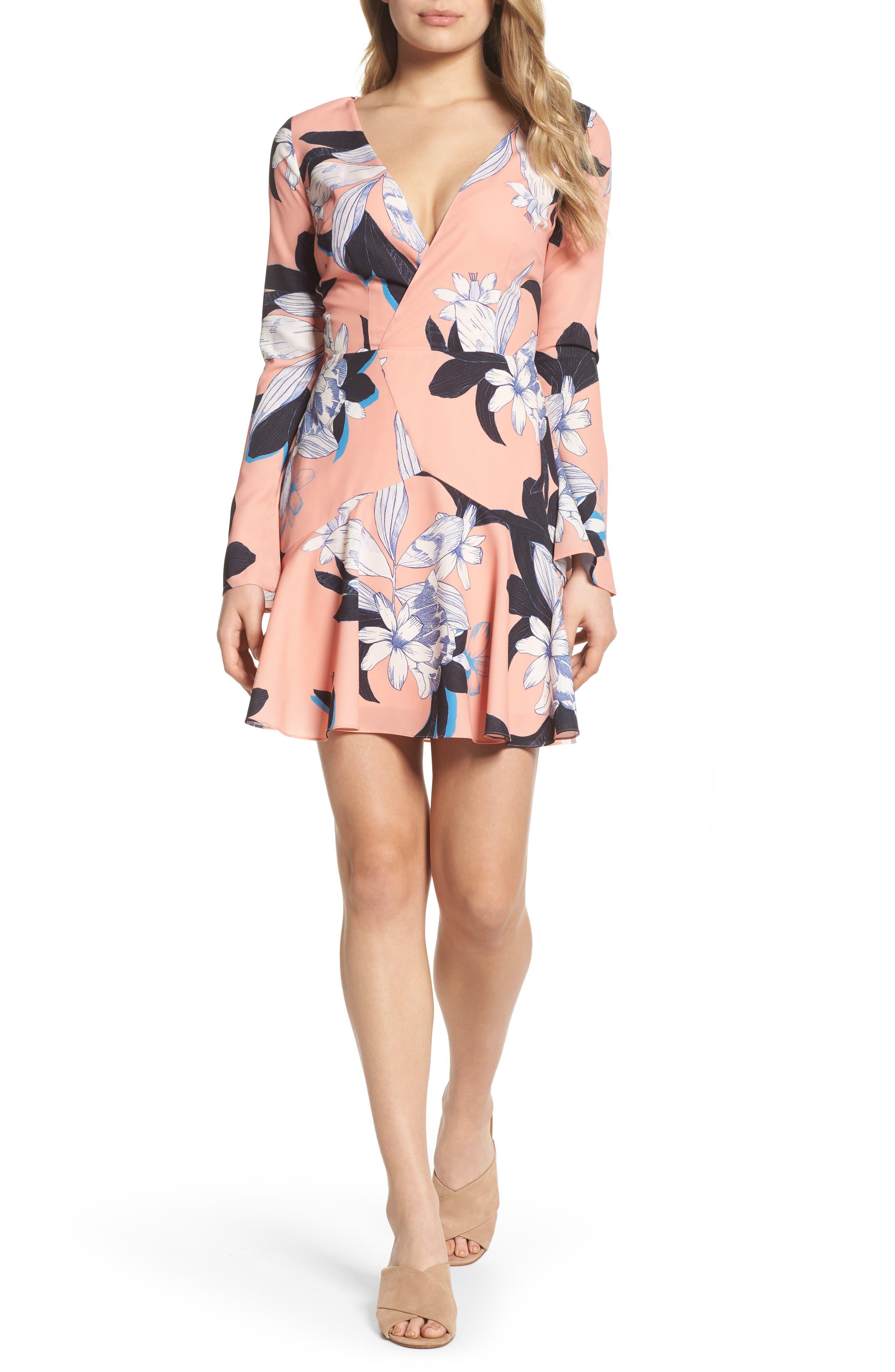 Dreamy Vines Minidress,                         Main,                         color, Print