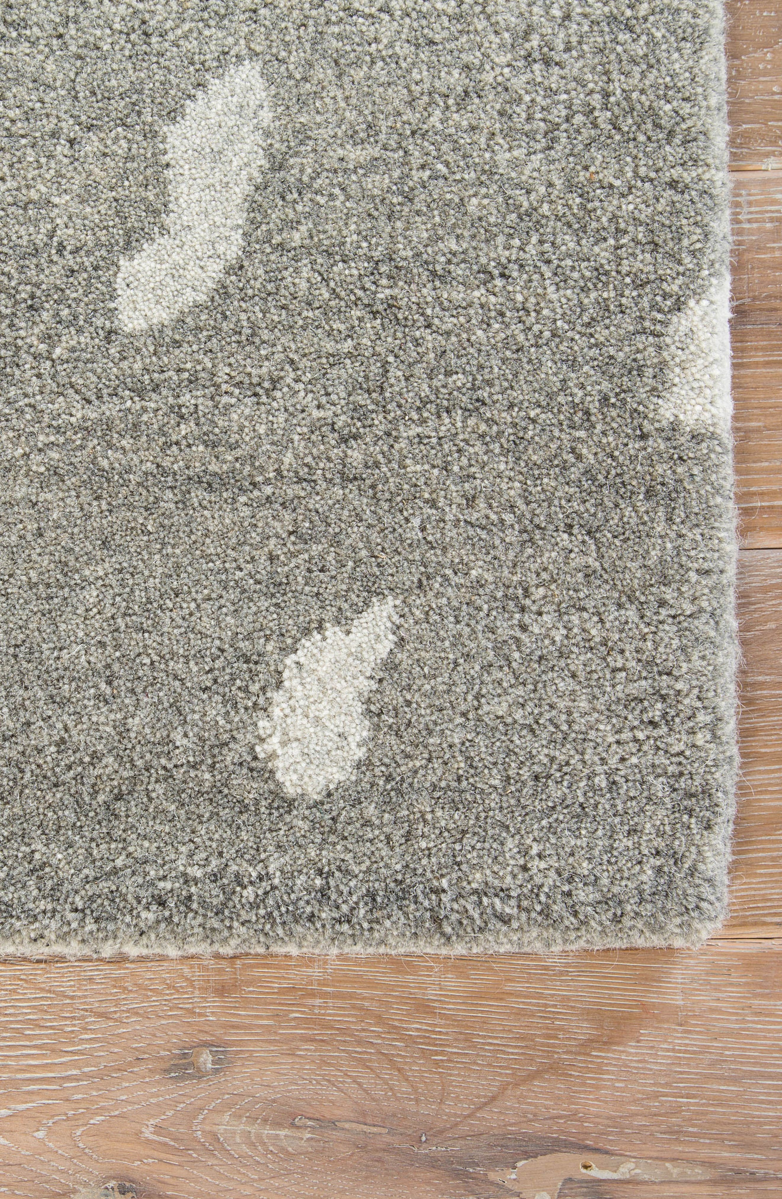 gramercy wool rug,                             Alternate thumbnail 3, color,                             Heather Gray