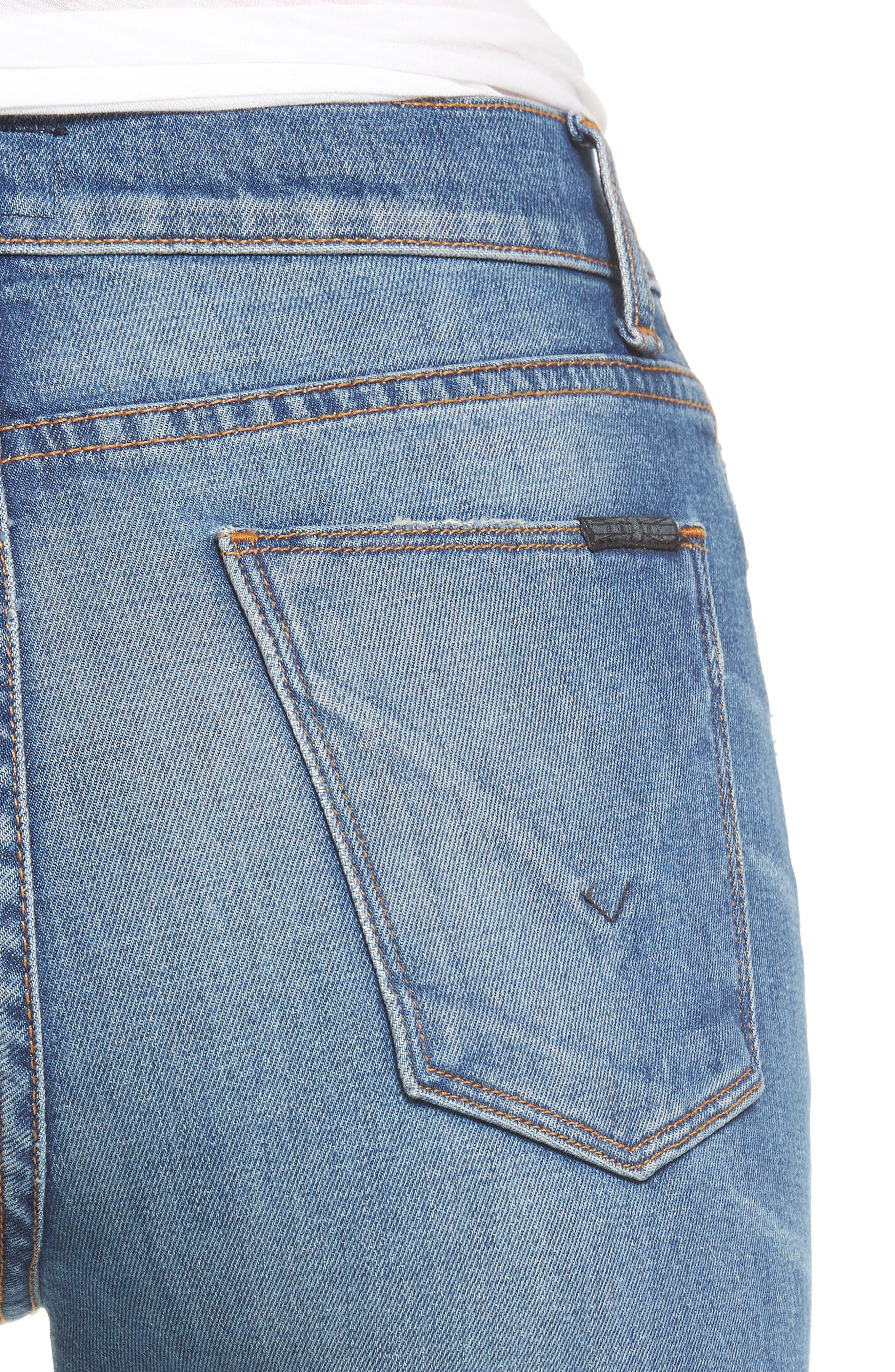 Zoeey High Waist Ankle Straight Leg Jeans,                             Alternate thumbnail 4, color,                             Kool