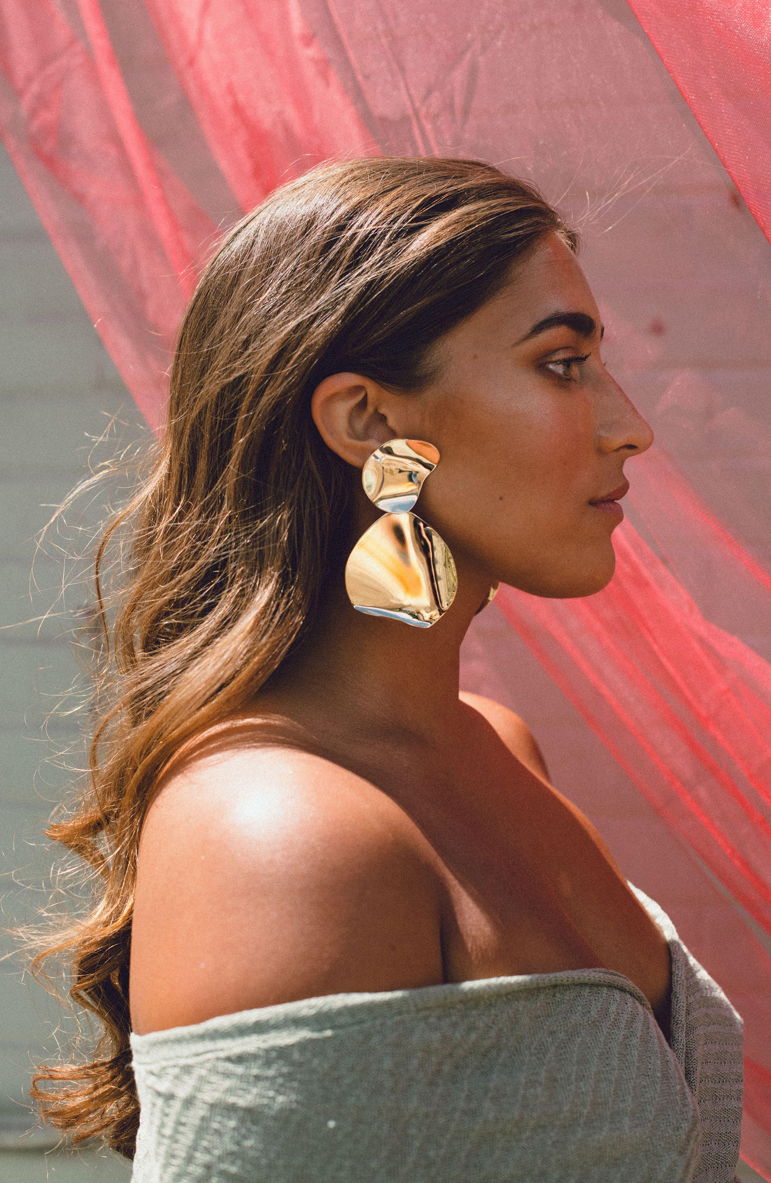 Alternate Image 3  - FARIS Drape Drop Earrings