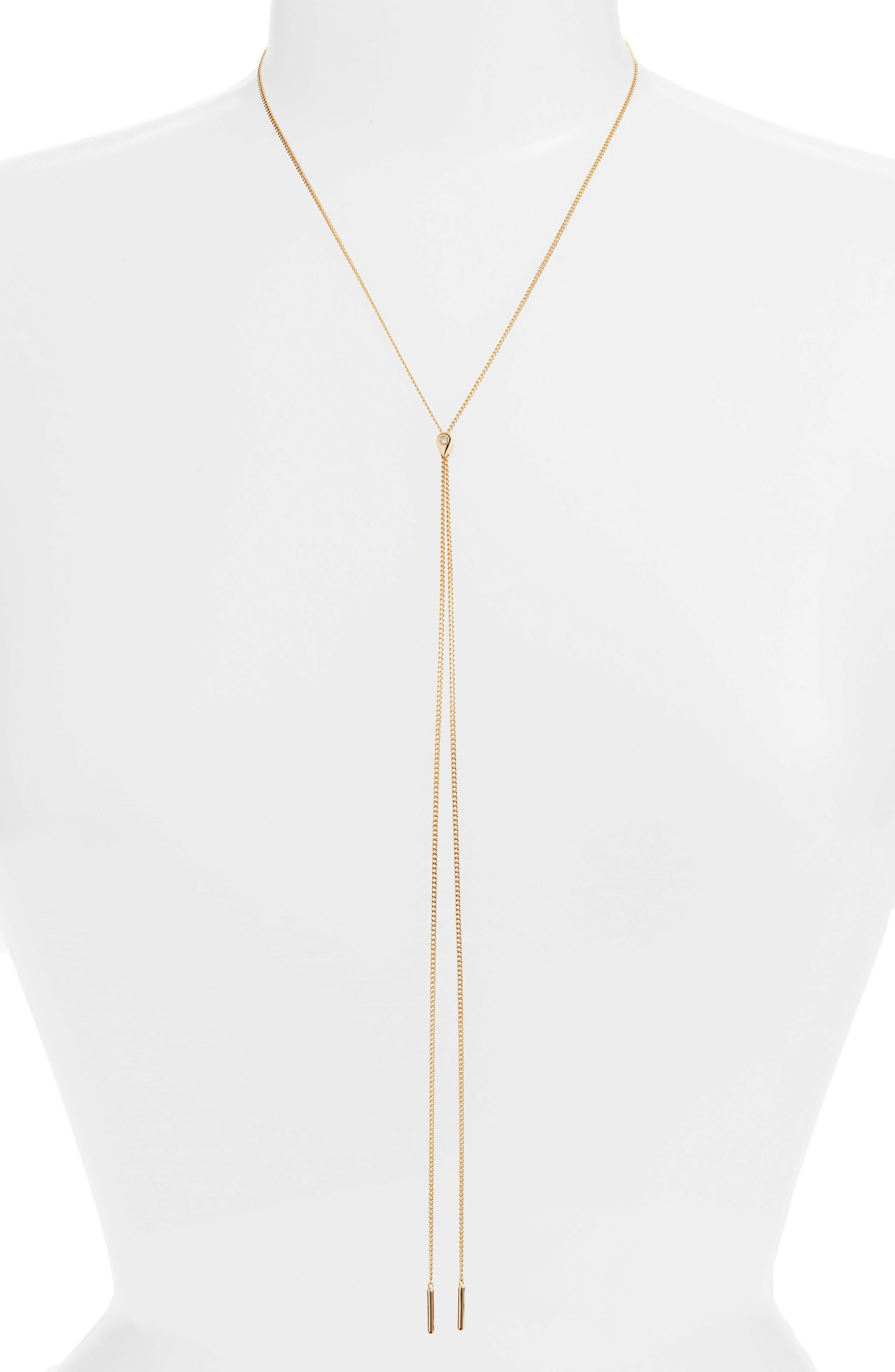 Jules Smith Dewdrop Lariat Necklace
