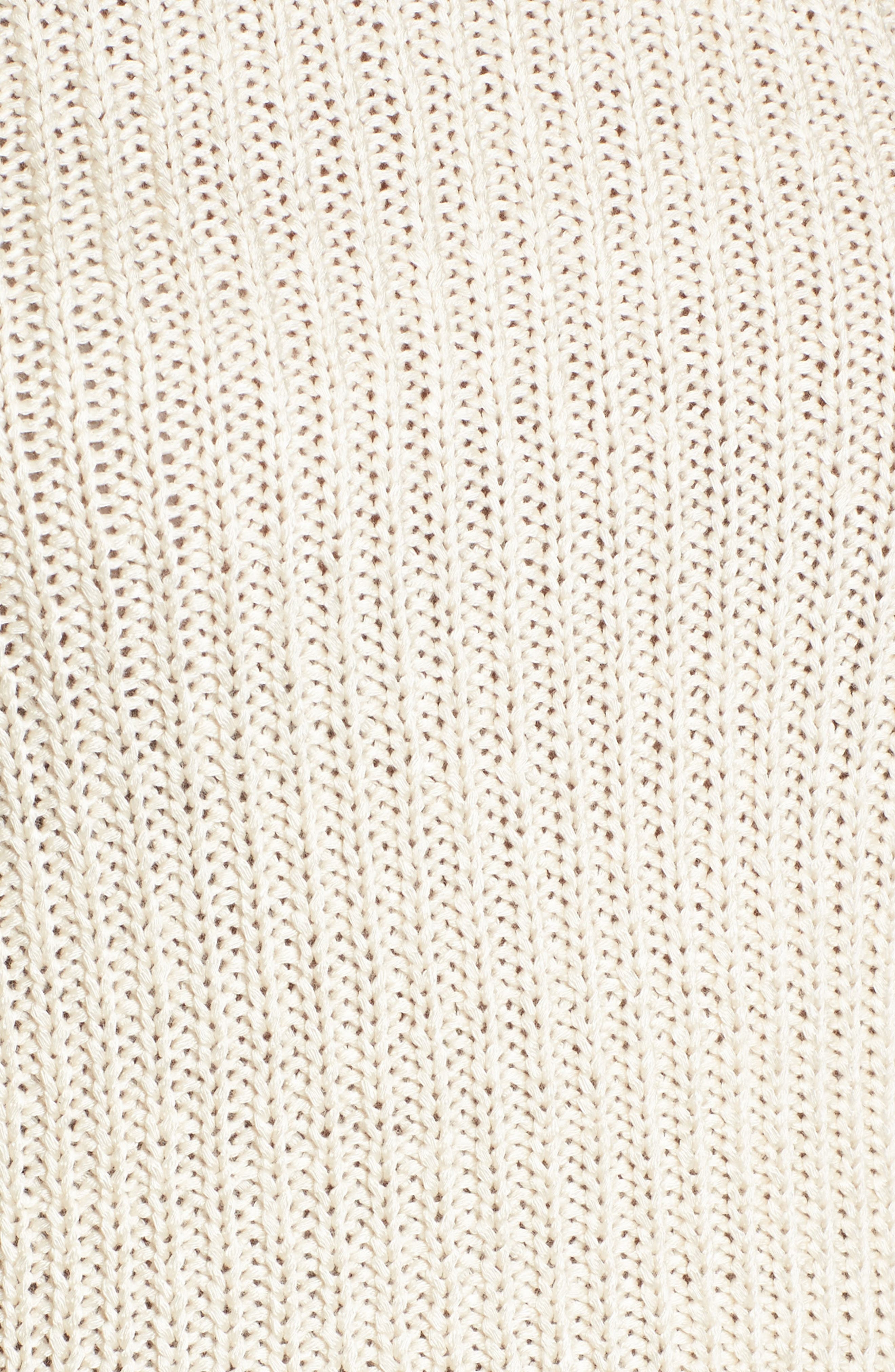 Scallop Edge Sweater,                             Alternate thumbnail 5, color,                             Ivory