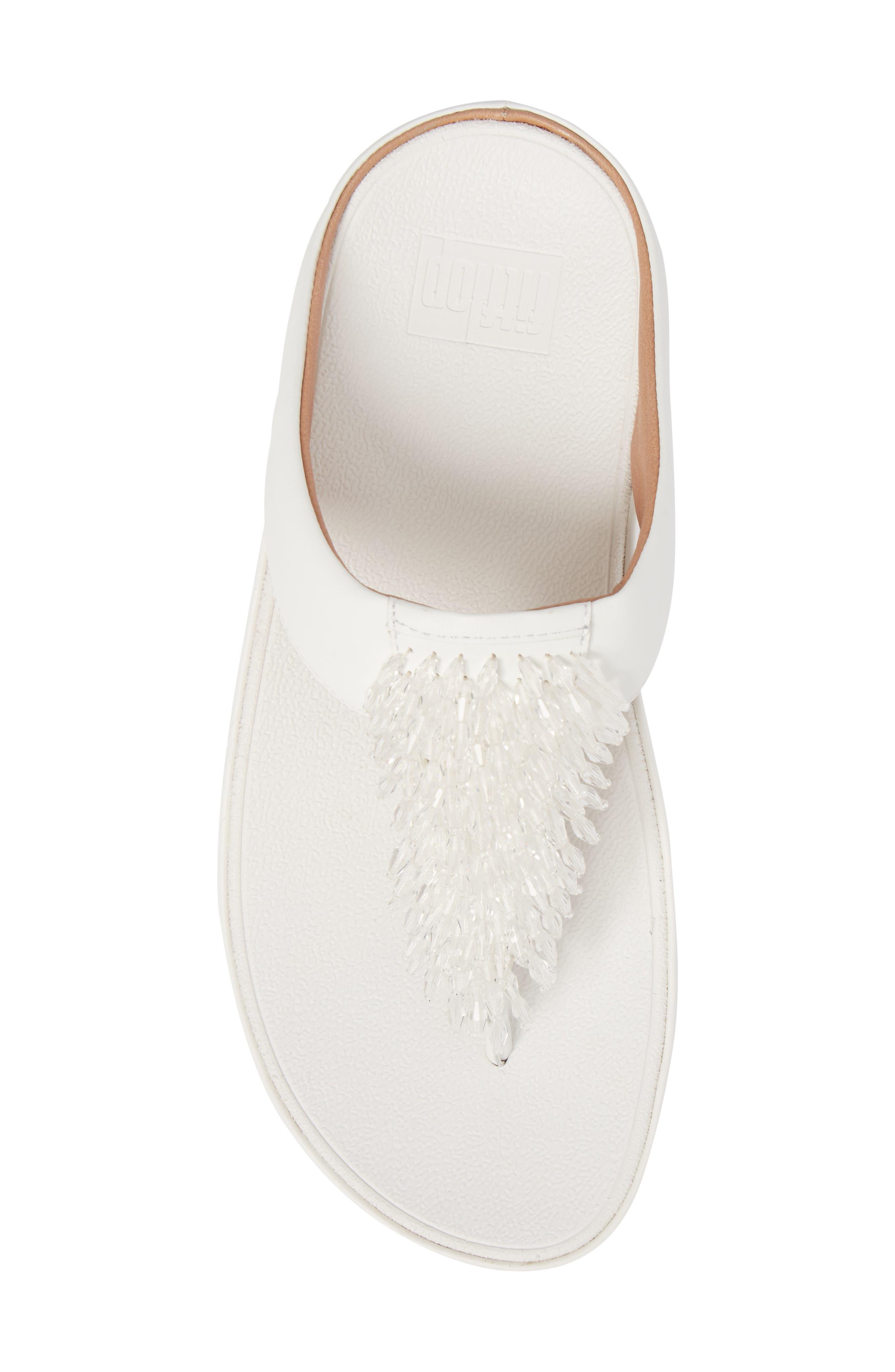 Rumba Sandal,                             Alternate thumbnail 5, color,                             Urban White Leather
