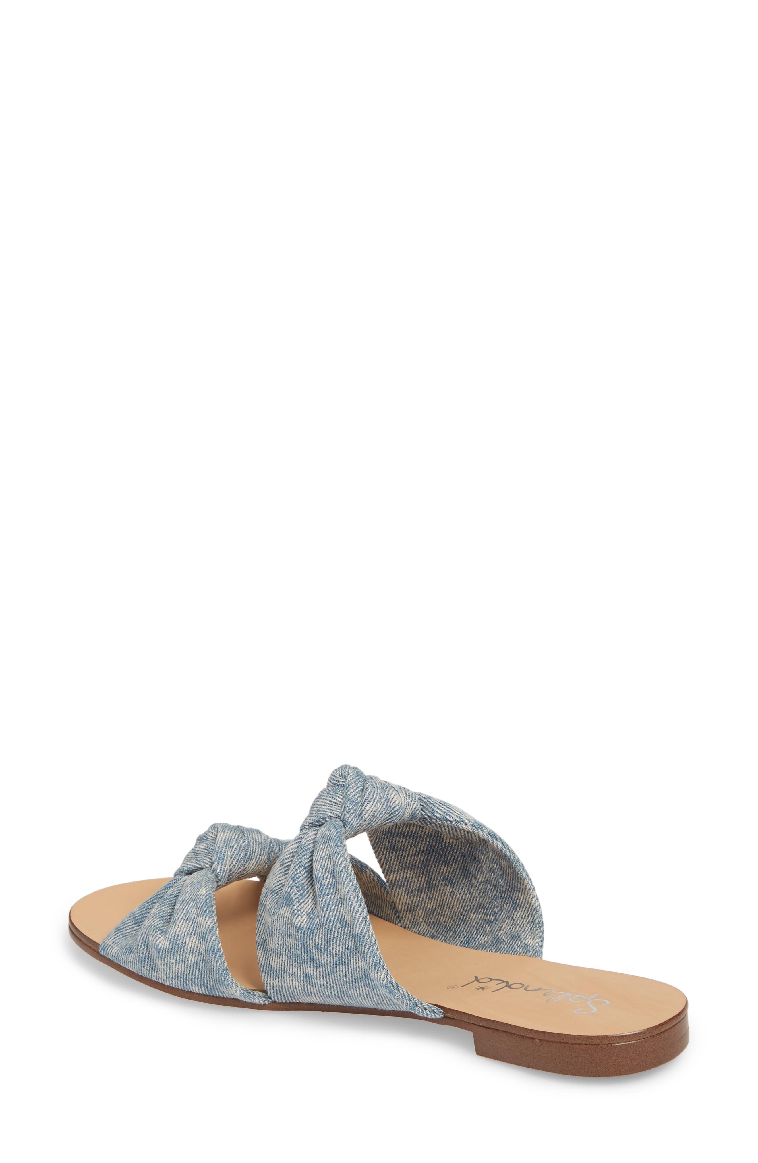 Barton Double Knotted Slide Sandal,                             Alternate thumbnail 2, color,                             Jean Fabric