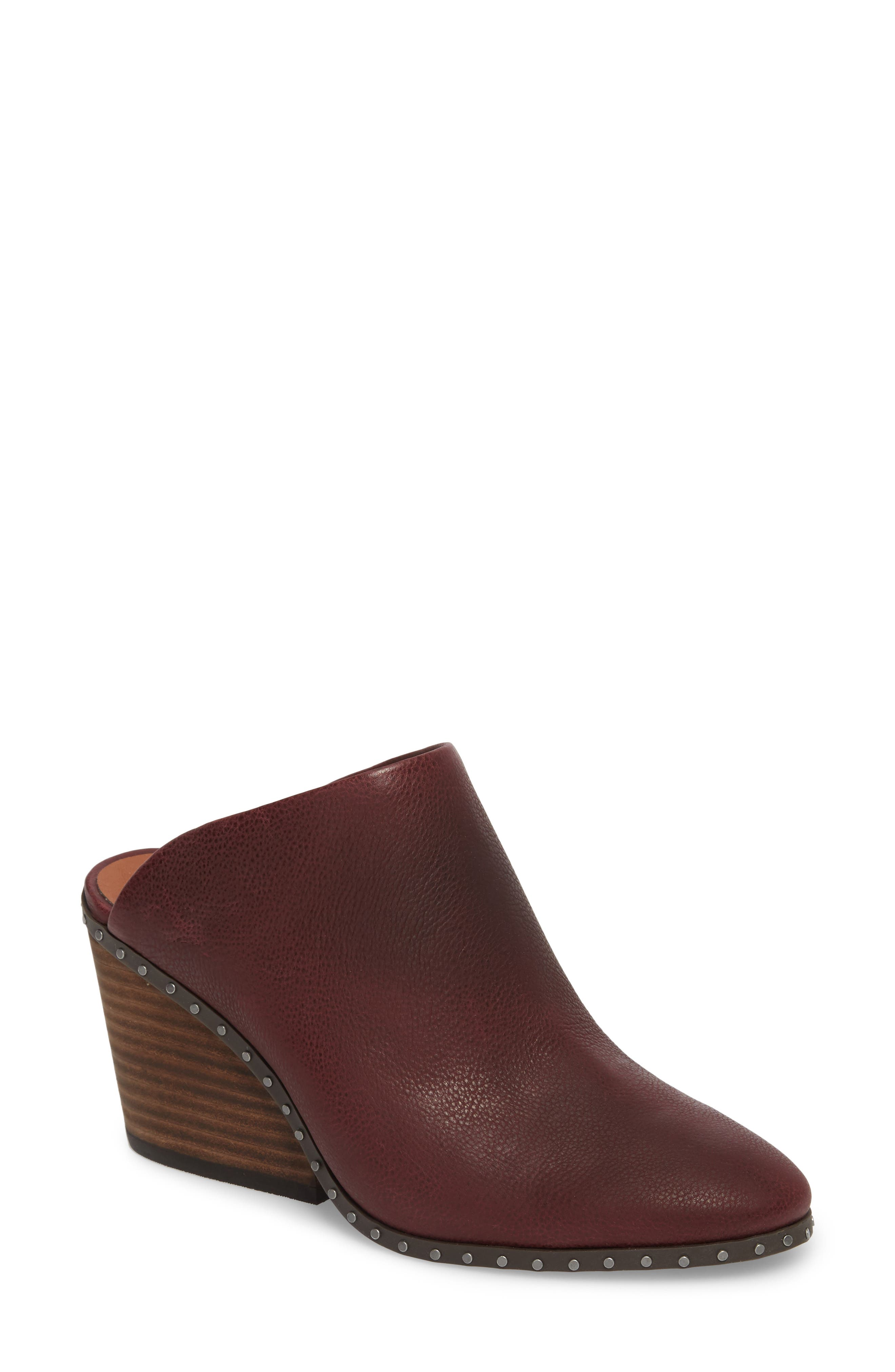 Larsson2 Studded Mule,                             Main thumbnail 1, color,                             Tawny Port Leather