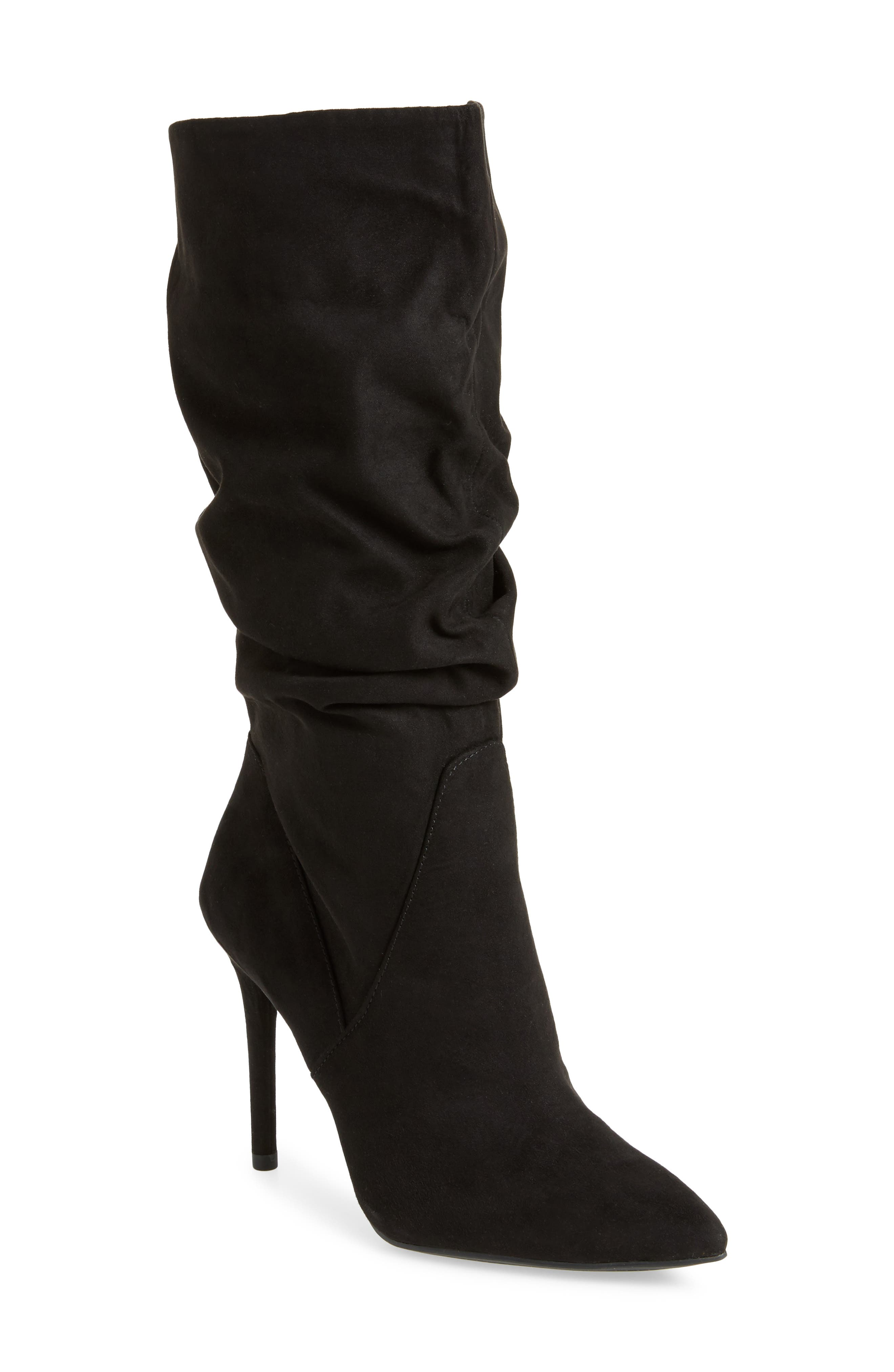 Lyndy Slouch Boot,                             Main thumbnail 1, color,                             Black