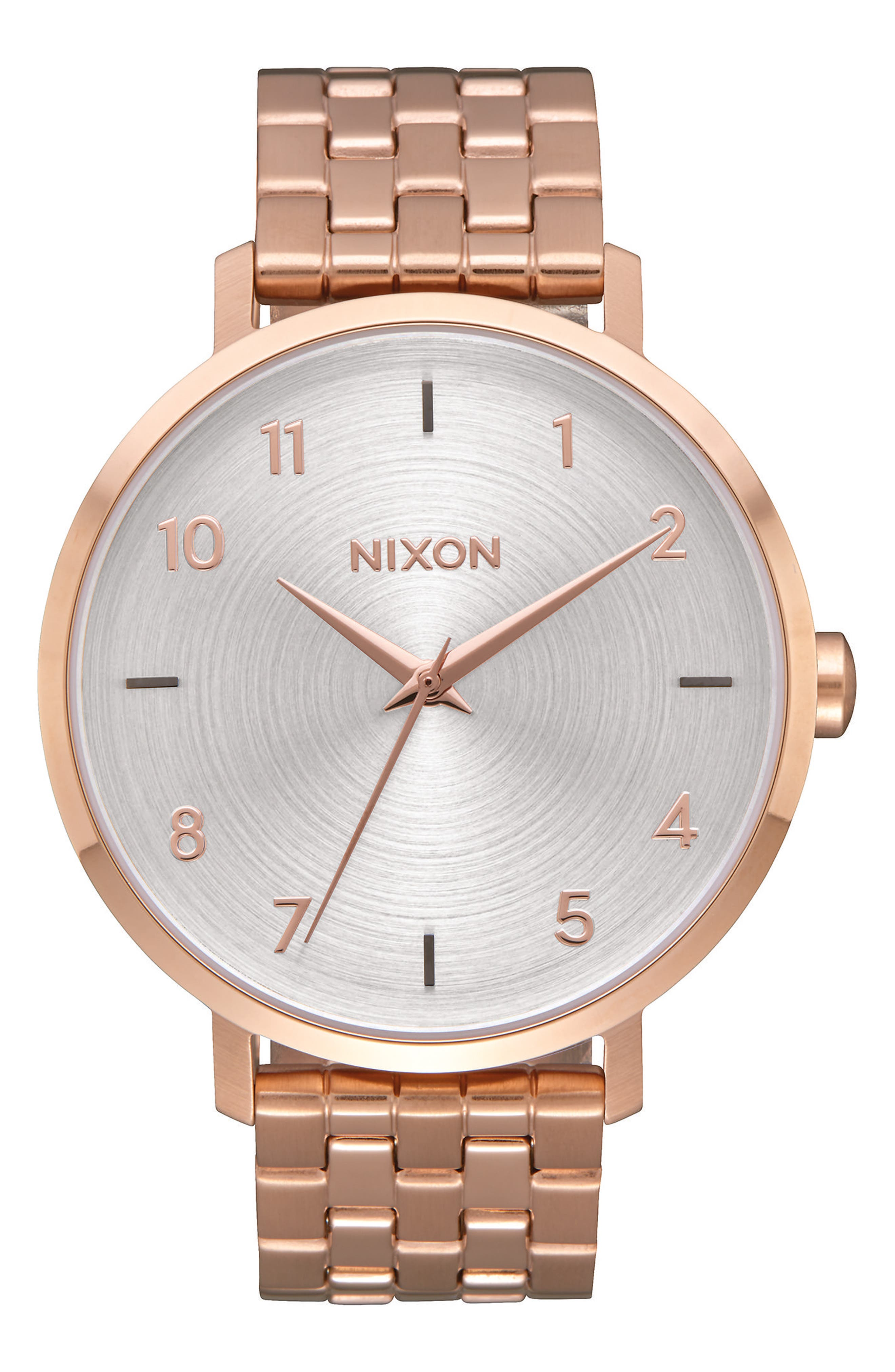 The Arrow Bracelet Watch, 38mm,                             Main thumbnail 1, color,                             Rose Gold/ White/ Rose Gold