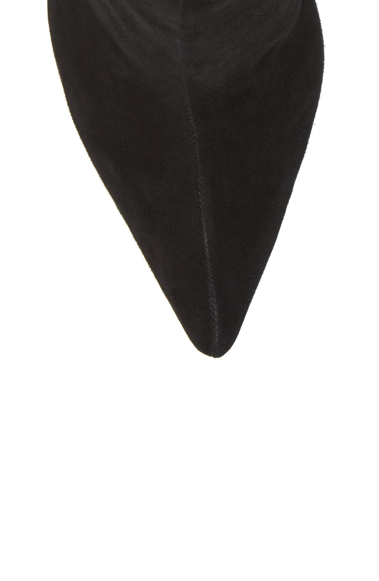 Tati Pointy Toe Bootie,                             Alternate thumbnail 5, color,                             Black Suede