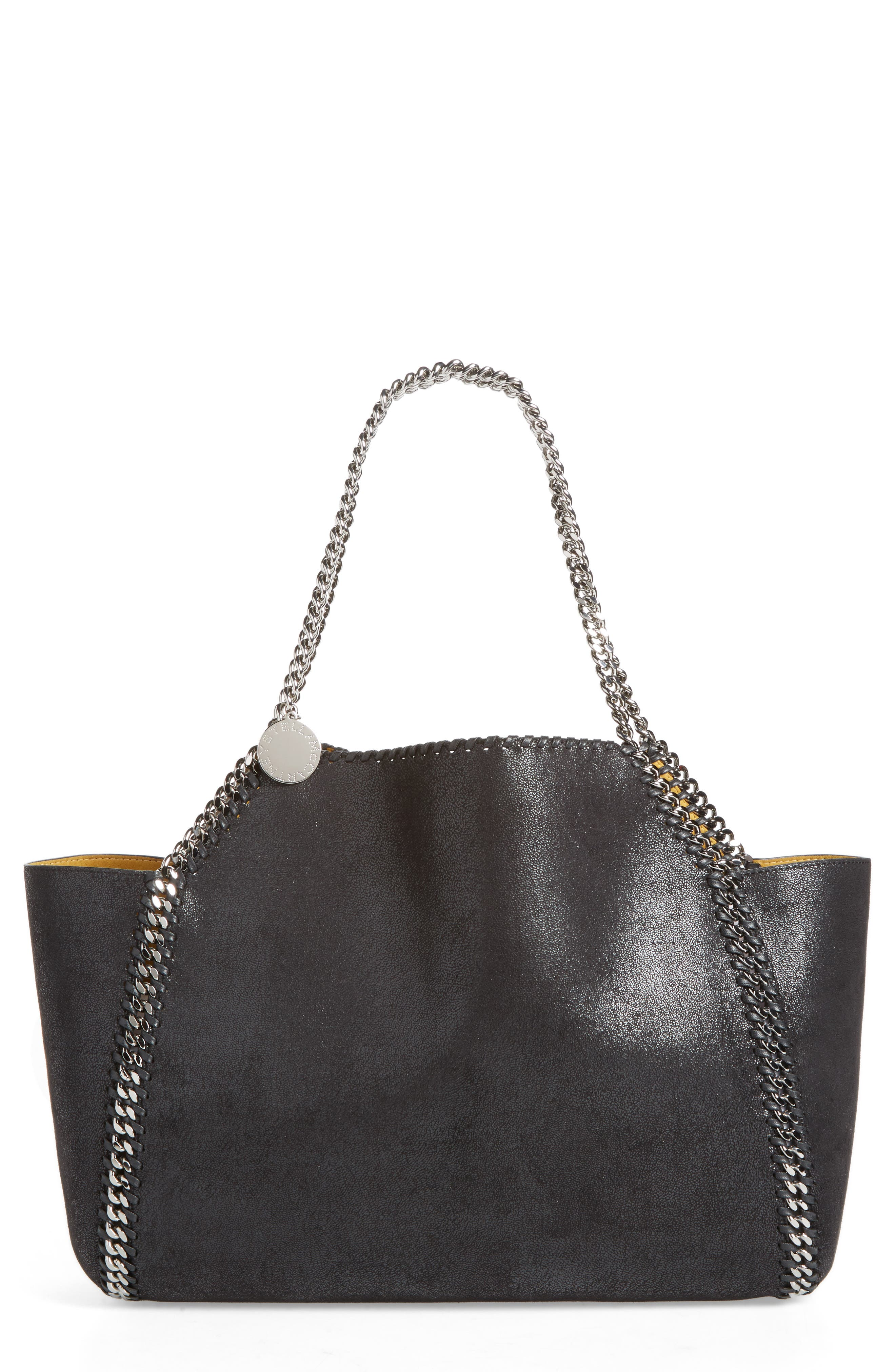 Small Oleo Deer Reversible Faux Leather Tote,                         Main,                         color, Black
