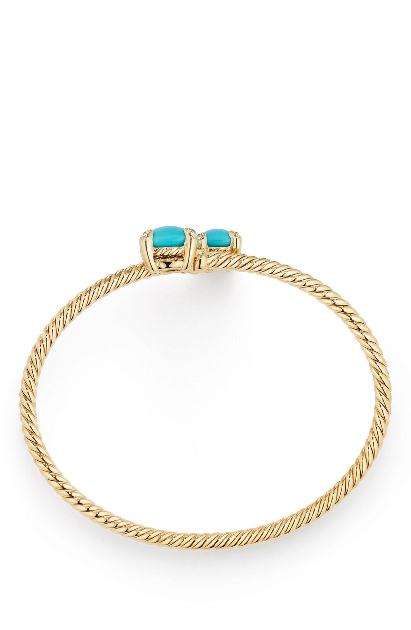 Alternate Image 2  - David Yurman Châtelaine Bypass Bracelet with Semiprecious Stone & Diamonds in 18K Gold
