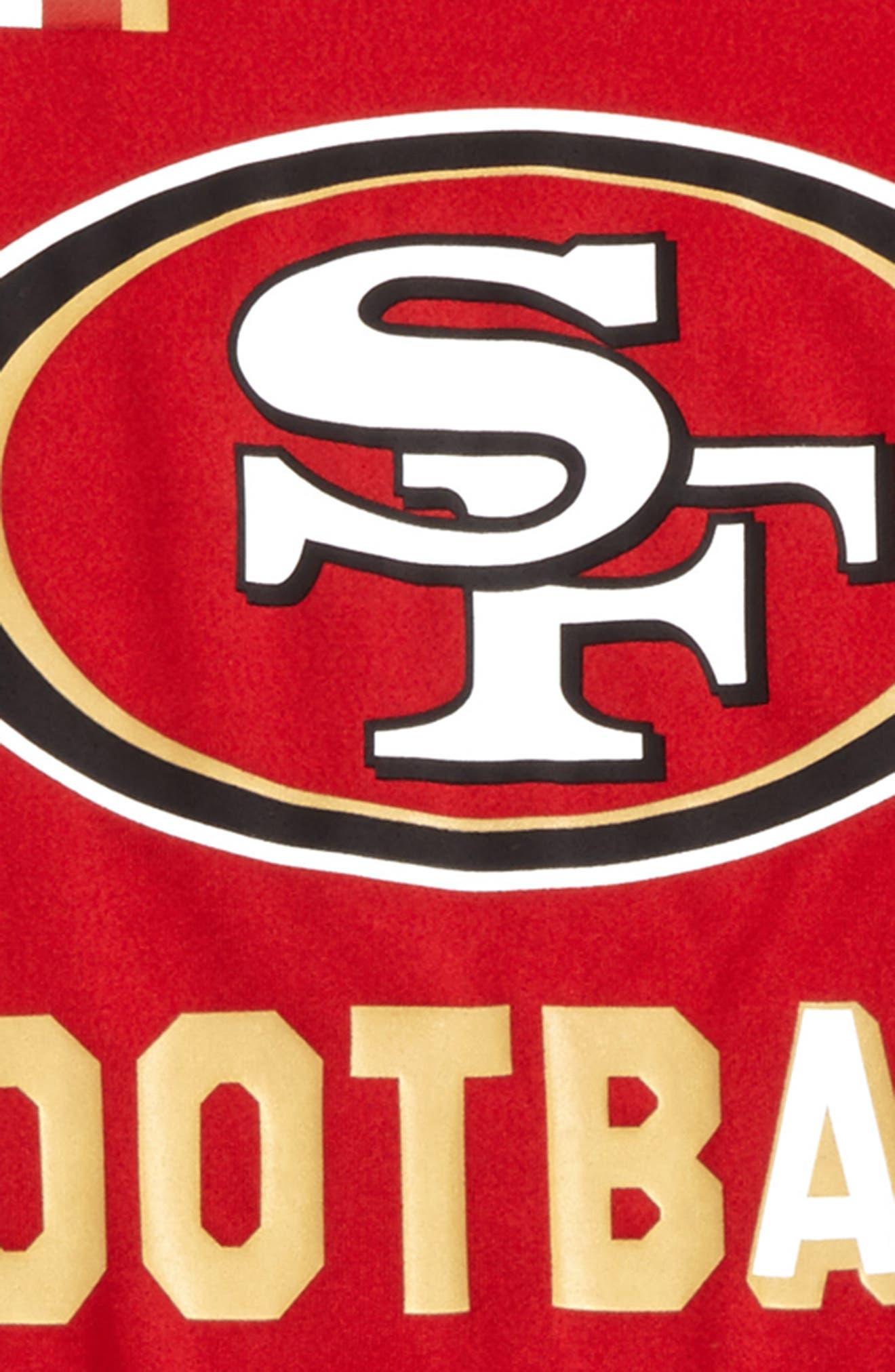 Nike NFL Logo - San Francisco 49ers Dry T-Shirt,                             Alternate thumbnail 2, color,                             Gym Red