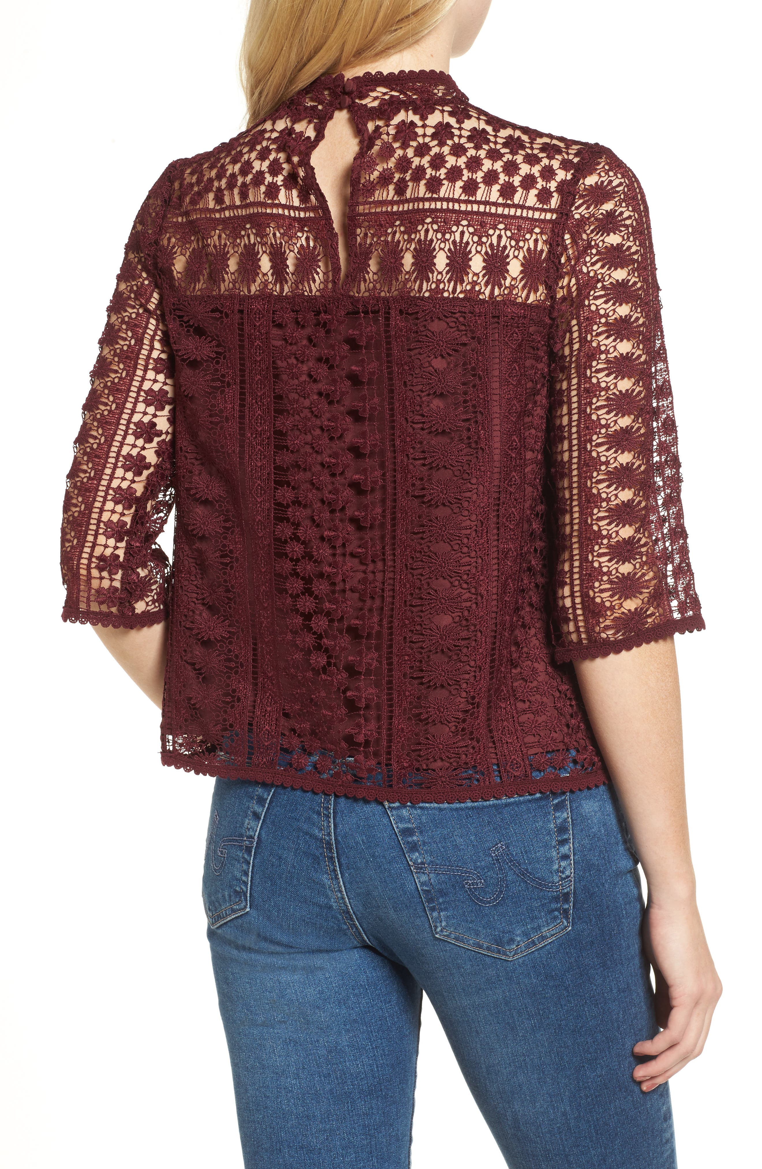 Alternate Image 2  - cupcakes and cashmere Kebecka Lace Top