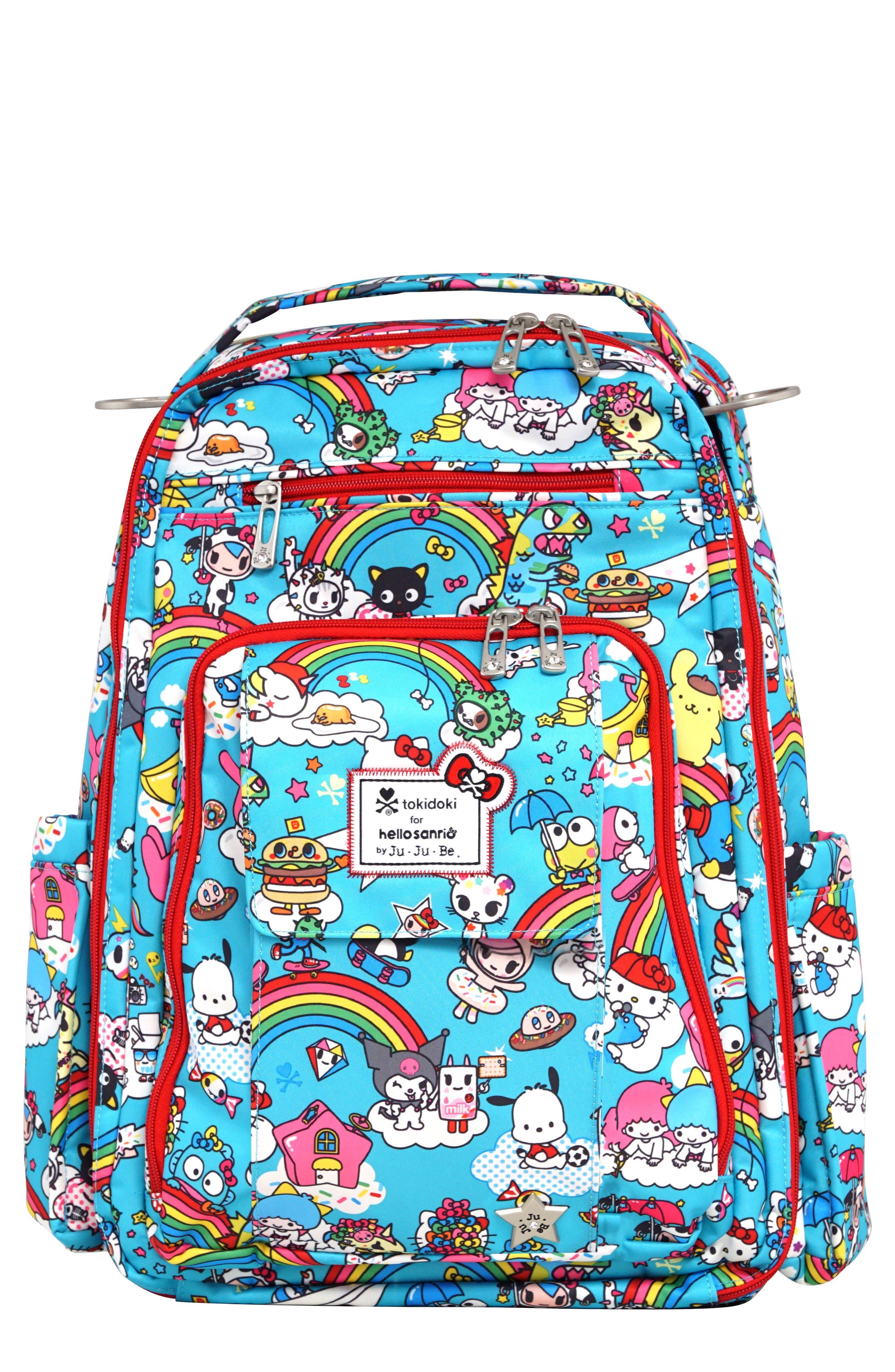 Ju-Ju-Be x tokidoki for Hello Sanrio Rainbow Dreams Be Right Back Diaper Backpack