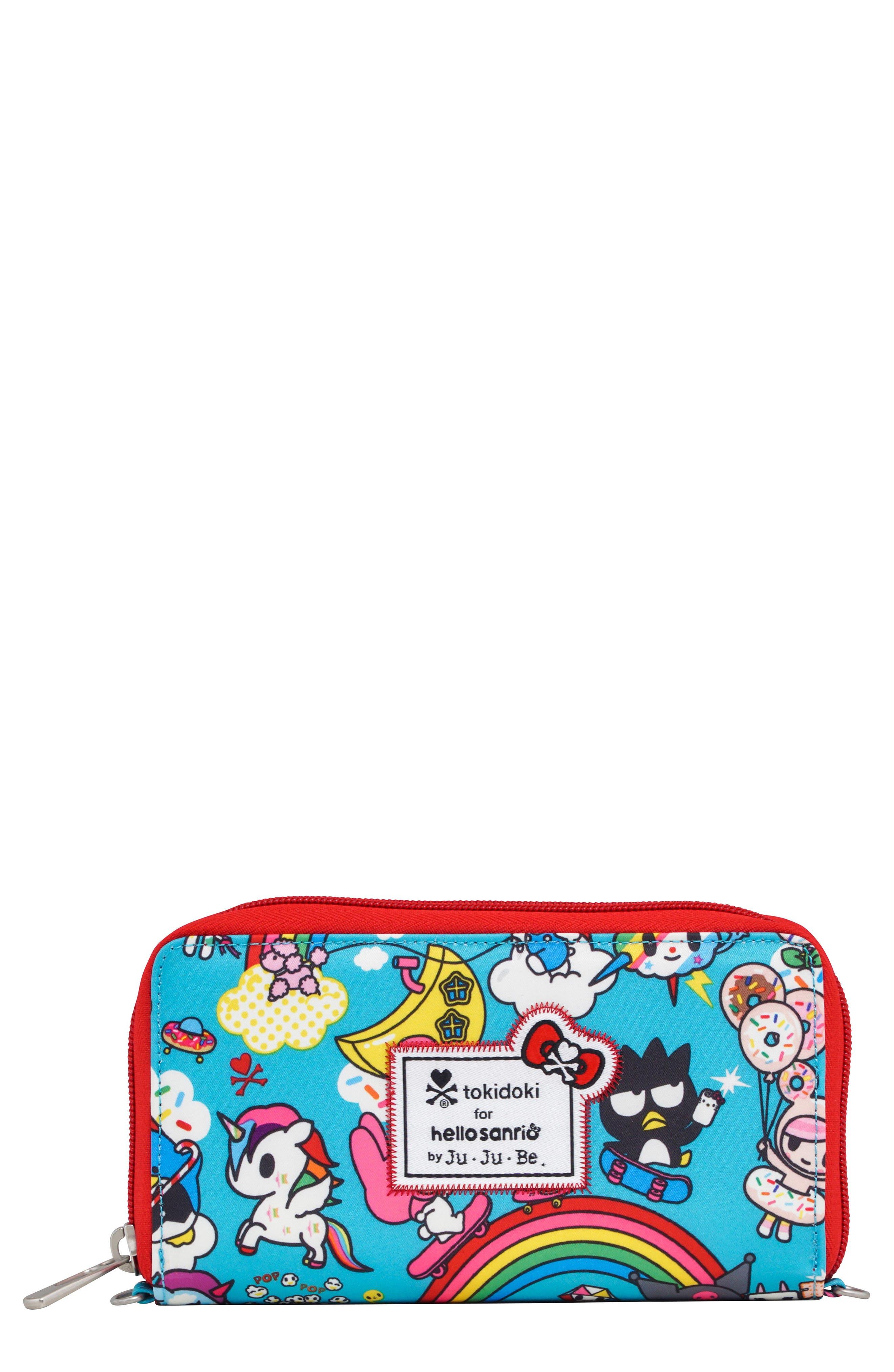 x tokidoki for Hello Sanrio Rainbow Dreams Be Spendy Clutch Wallet,                             Main thumbnail 1, color,                             Rainbow Dreams