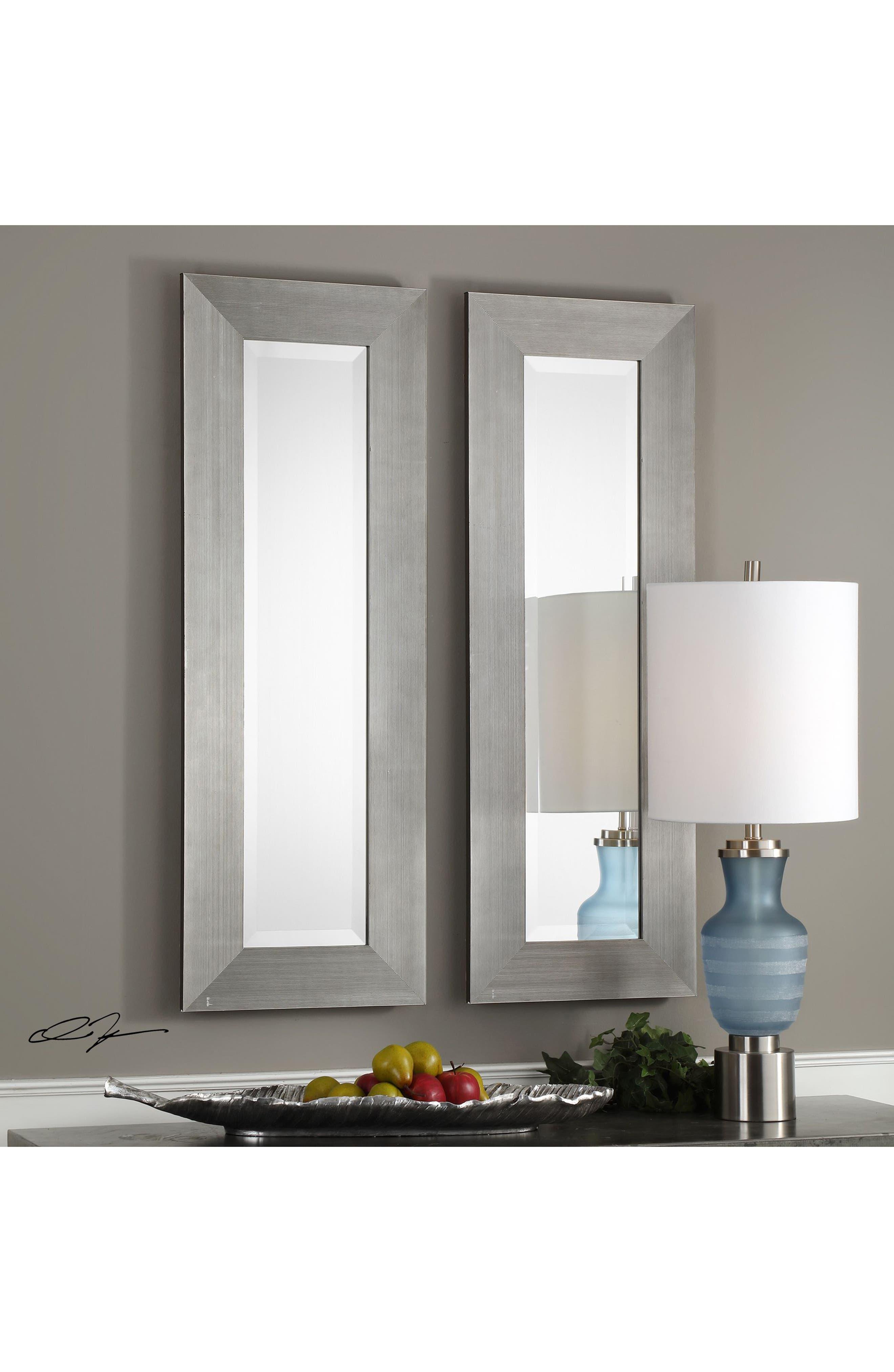 Maldon Set of 2 Wall Mirrors,                             Alternate thumbnail 2, color,                             Metallic Silver