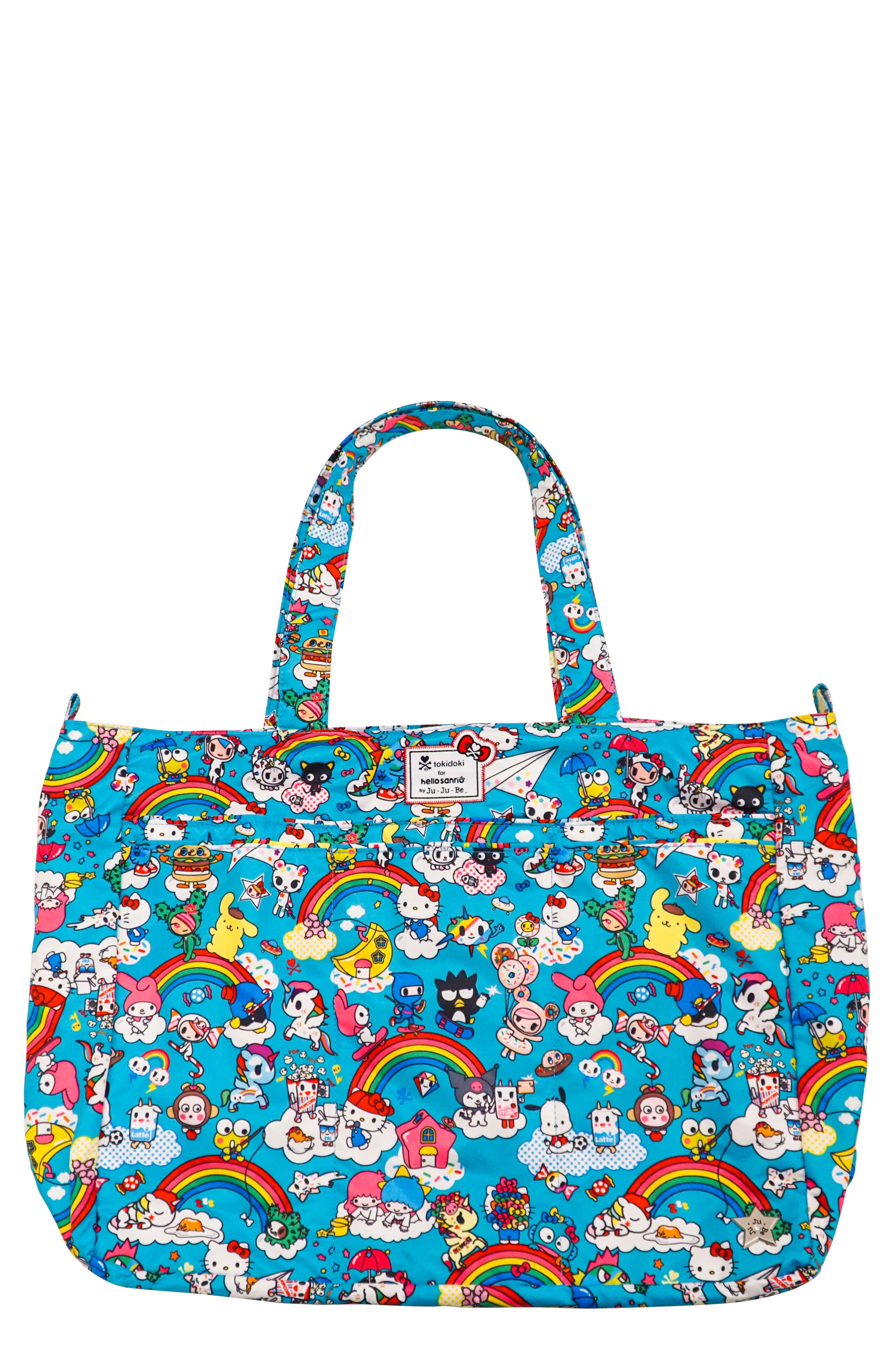 Ju-Ju-Be x tokidoki for Hello Sanrio Rainbow Dreams Be Super Diaper Bag