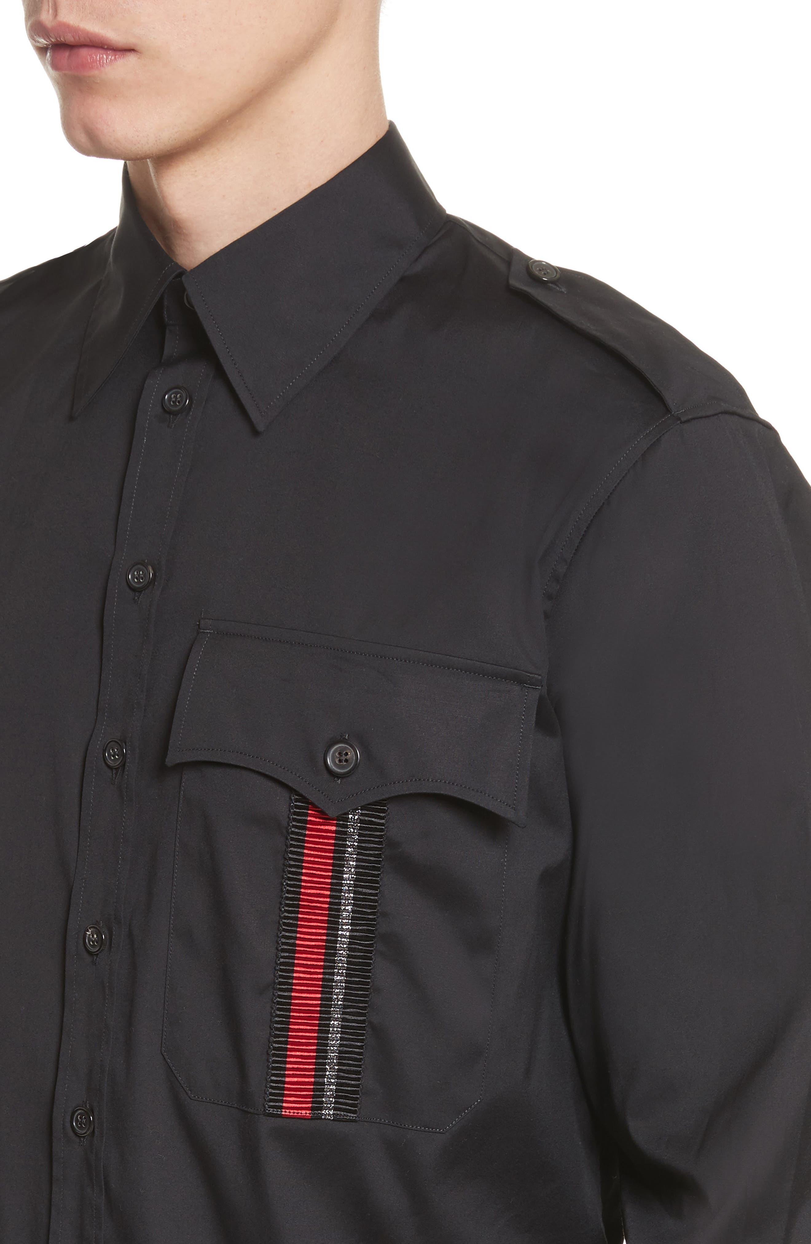 Military Shirt,                             Alternate thumbnail 2, color,                             Black