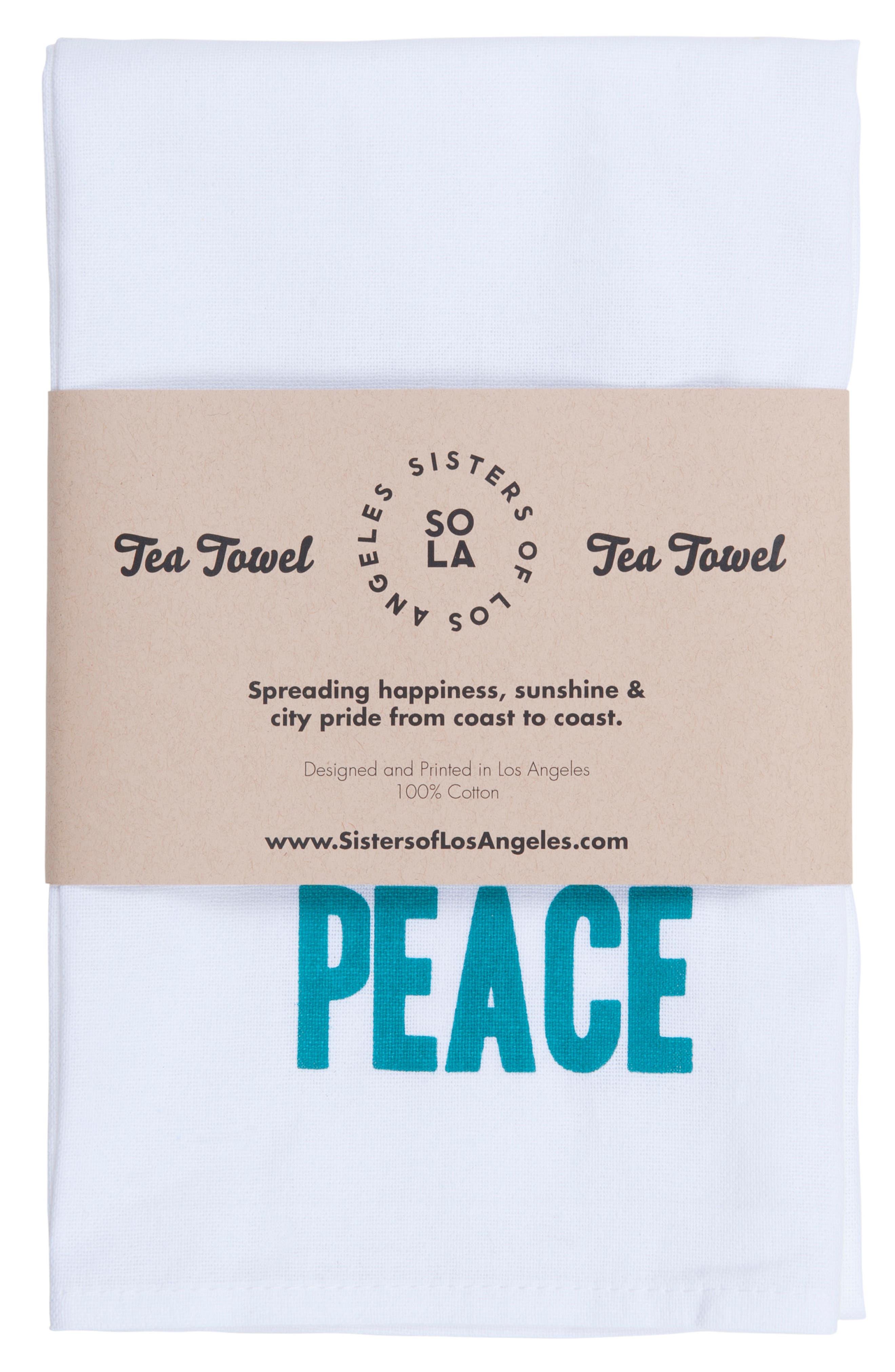 Alternate Image 5  - Sisters of Los Angeles Peace Love Happiness Set of 3 Tea Towels