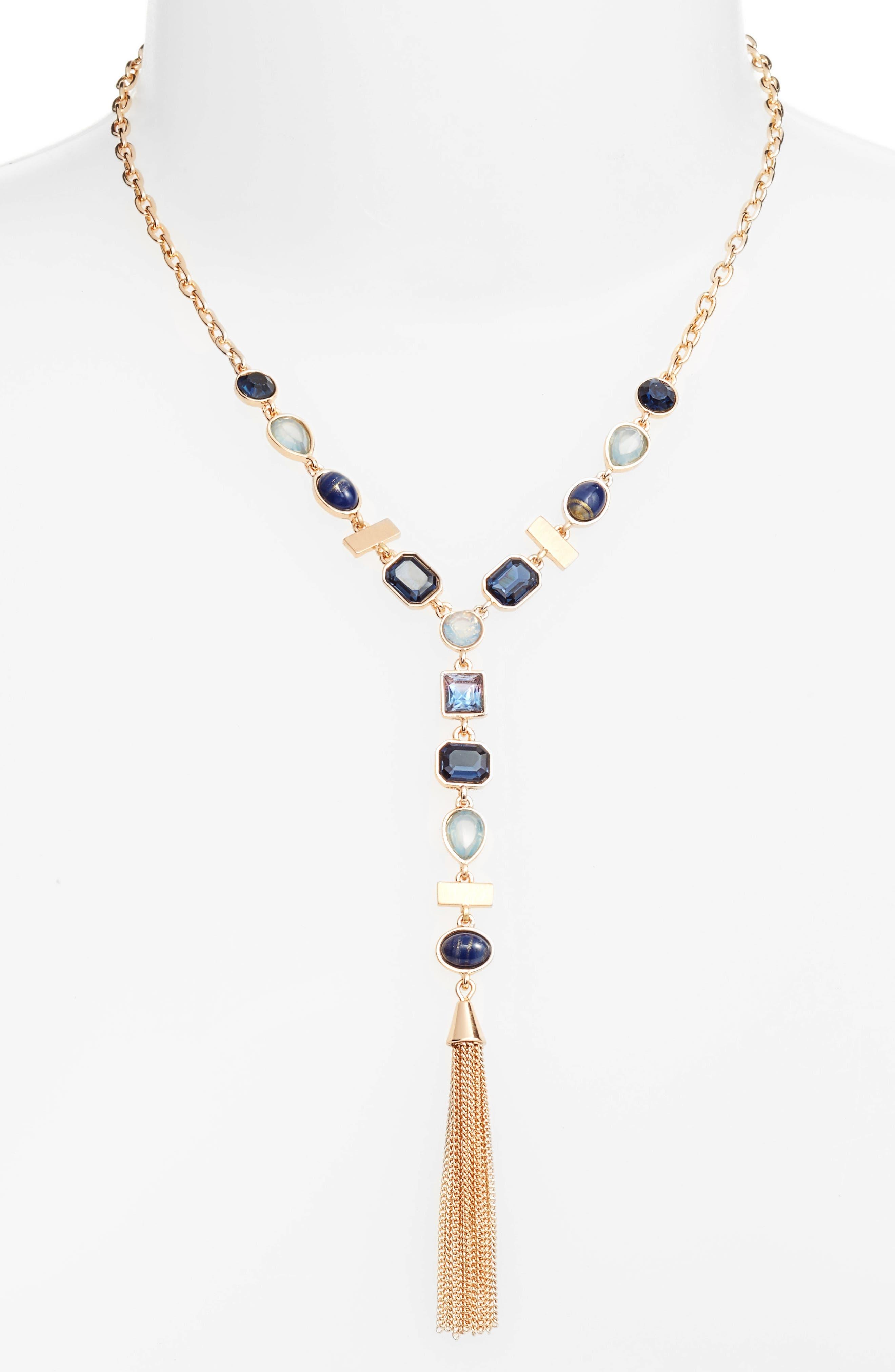 Halogen® Tassel Y-Necklace