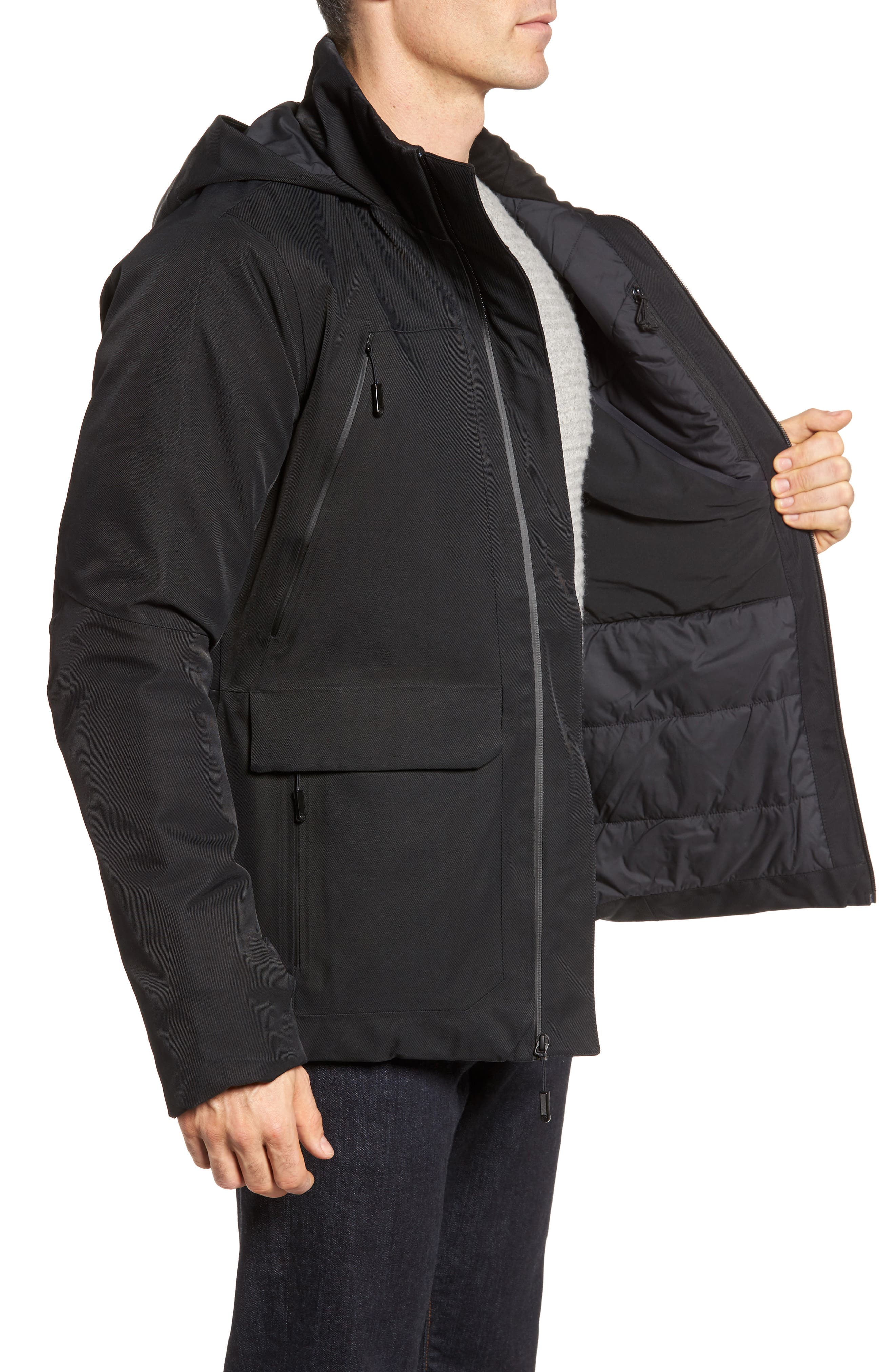 Cryos Waterproof Gore-Tex<sup>®</sup> PrimaLoft<sup>®</sup> Gold Insulated Jacket,                             Alternate thumbnail 3, color,                             Black