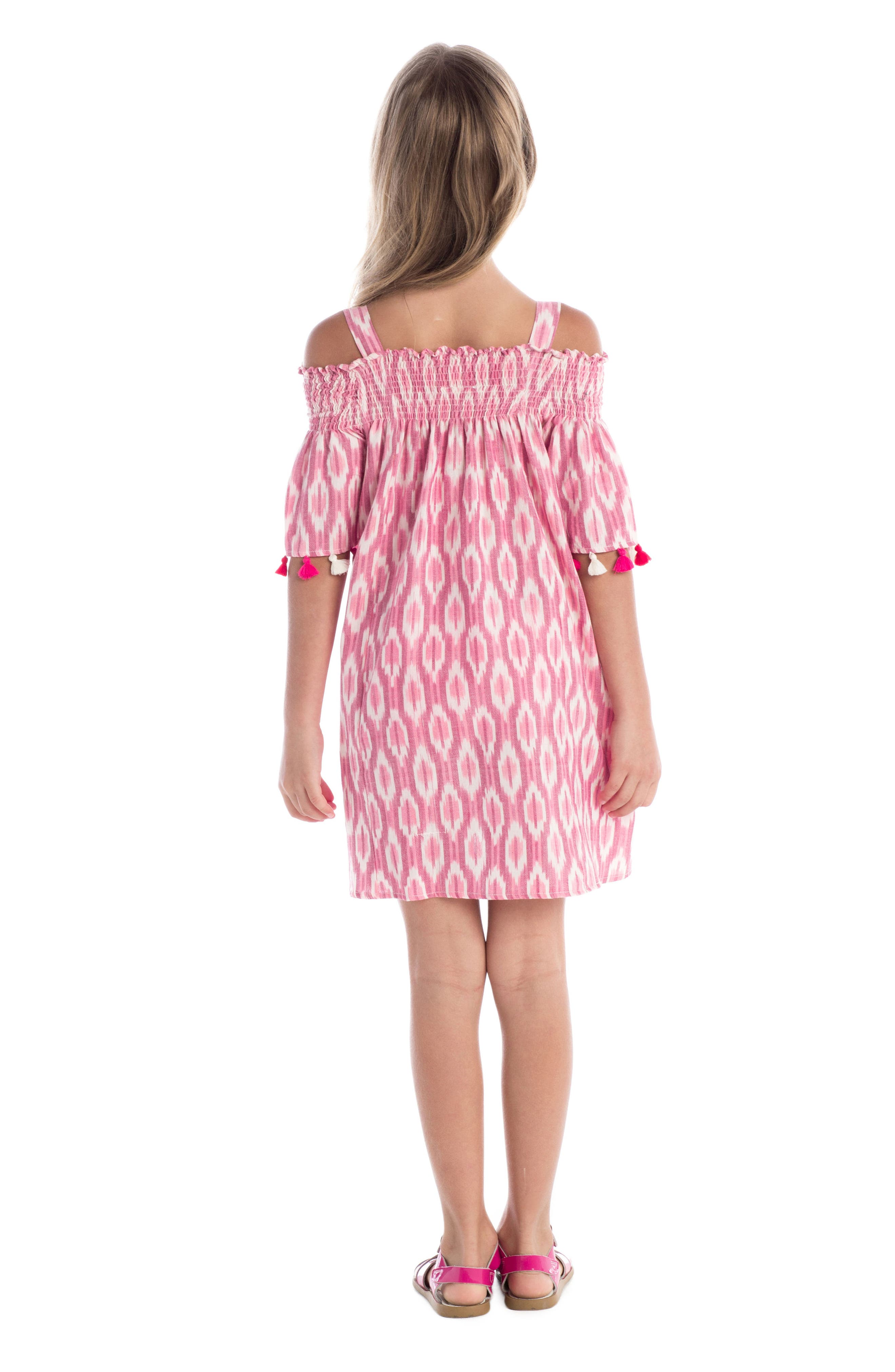 Alternate Image 3  - Masala Baby Rohi Ikat Print Dress (Toddler Girls, Little Girls & Big Girls)